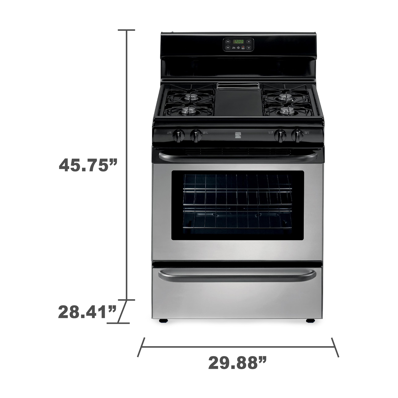 Kenmore 73033 4.2 cu. ft. Freestanding Gas Range w/ Broil & Serve™ Drawer - Stainless Steel
