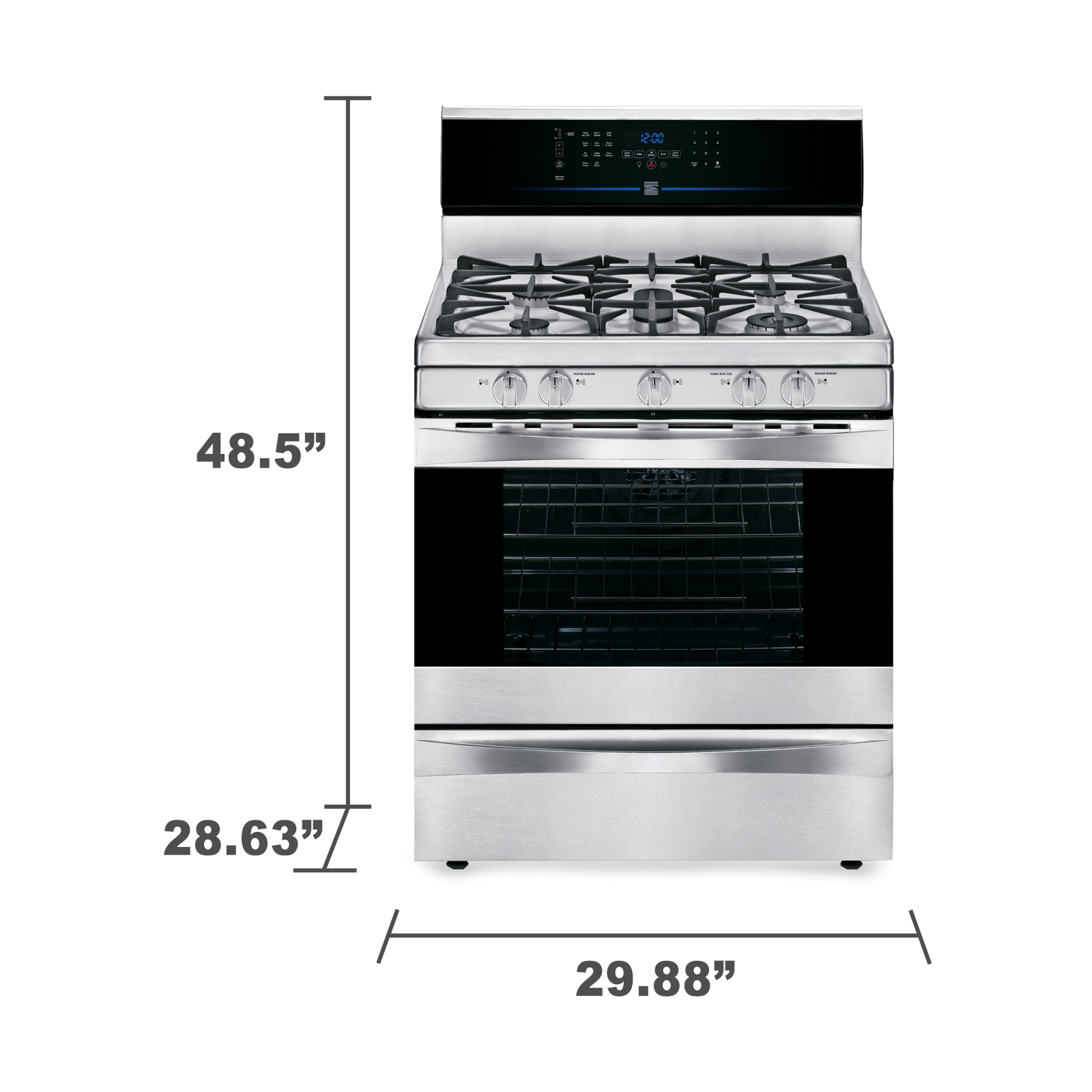 Kenmore Elite 75343 5.6 cu. ft. Gas Range w/ True Convection - Stainless Steel