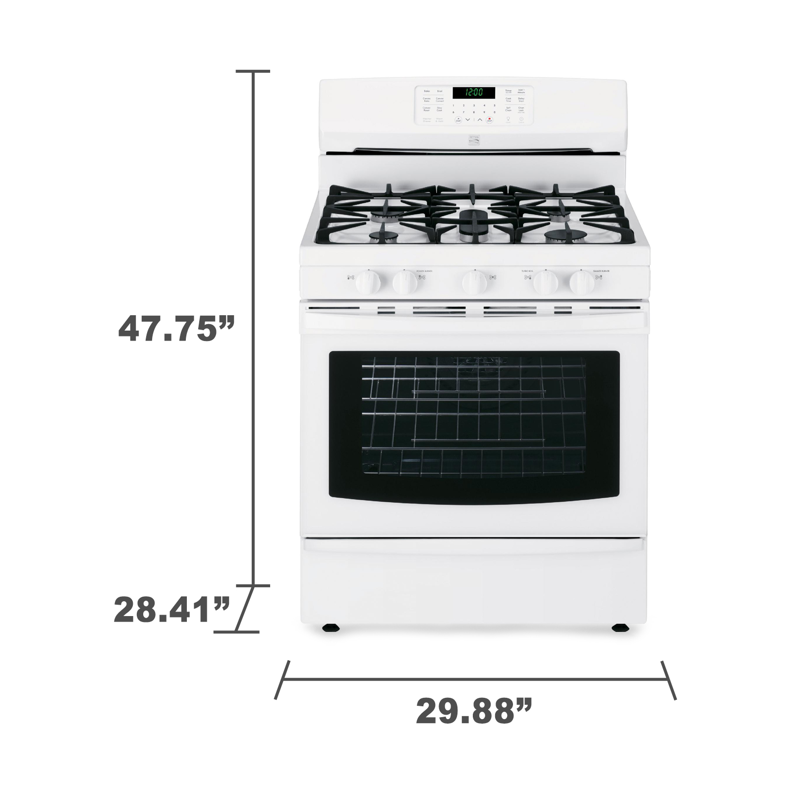 Kenmore 74332 5.6 cu. ft.  Gas Range w/ True Convection - White