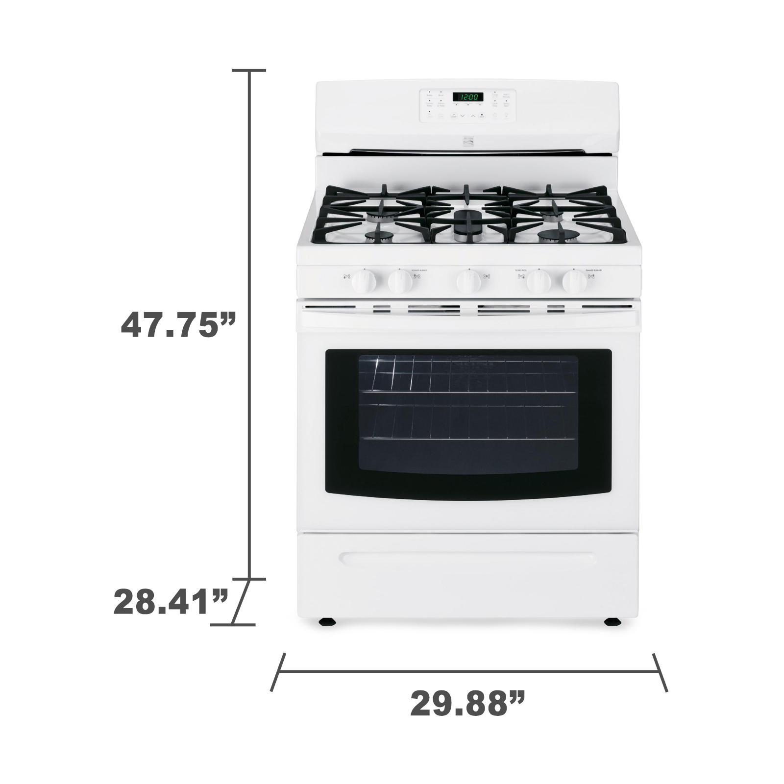 Kenmore 74232 5.0 cu. ft. Freestanding Gas Range w/ Convection - White