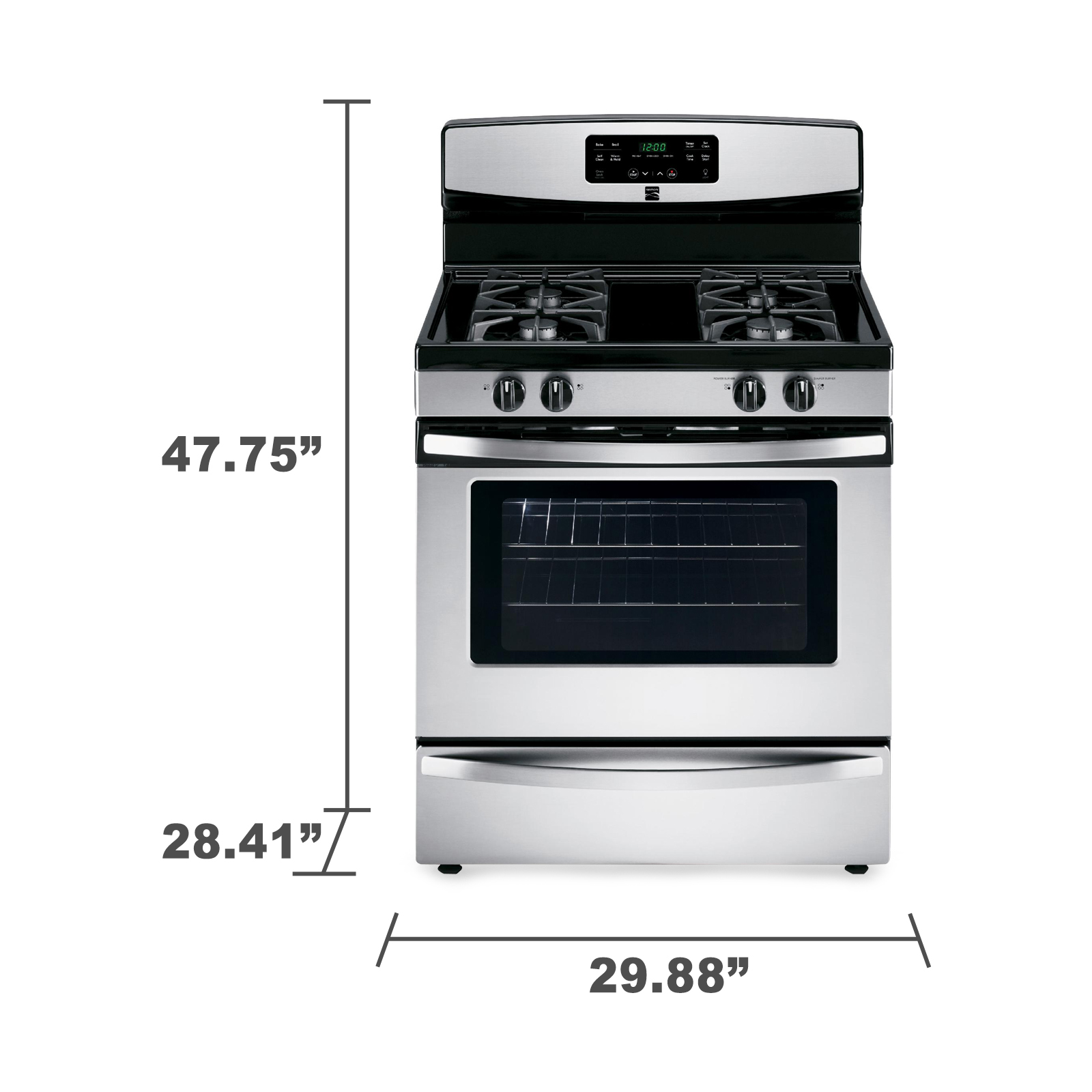 Kenmore 5.0 cu. ft. Gas Range - Stainless Steel