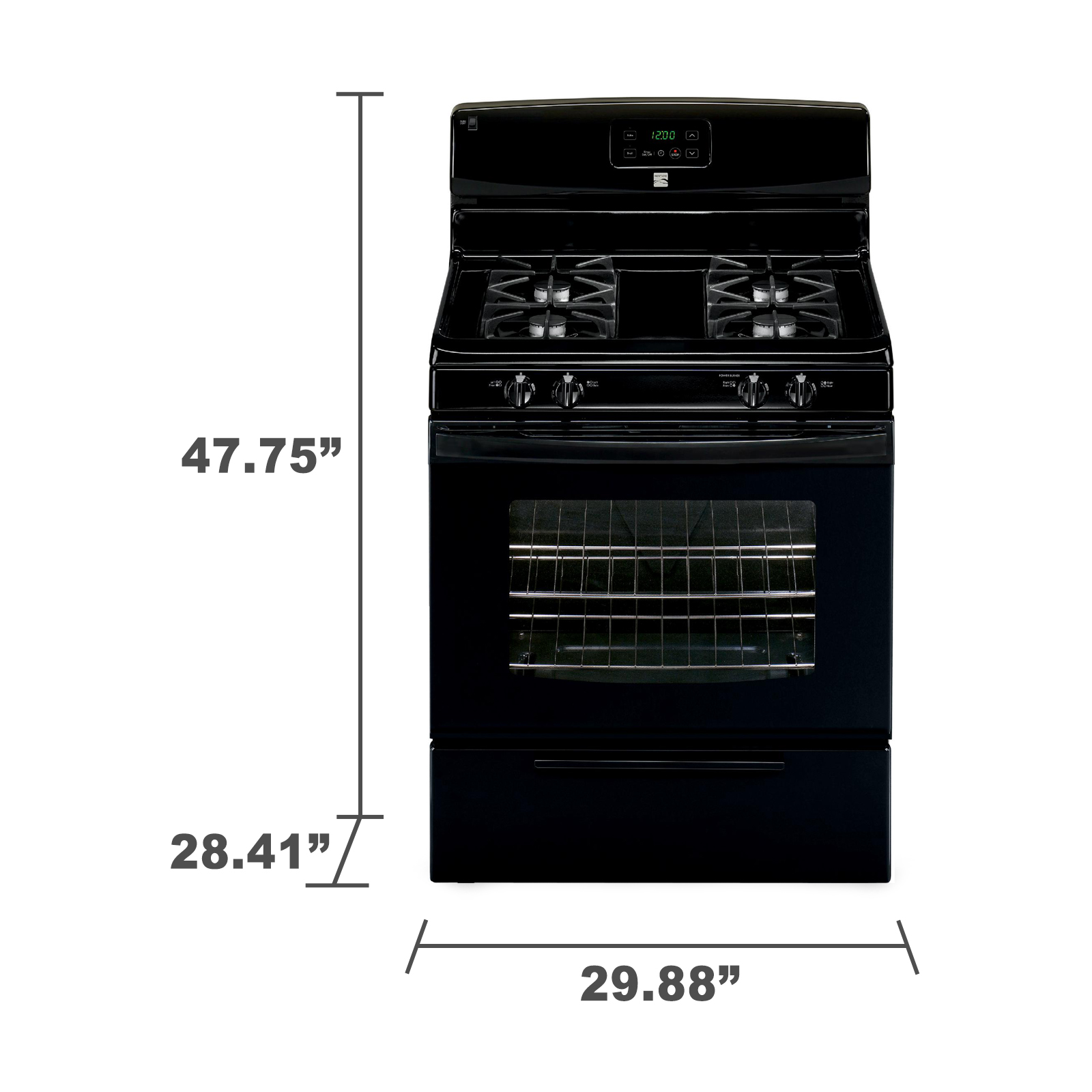 Kenmore 73239 4.2 cu. ft. Gas Range w/ Broil & Serve Drawer Drawer - Black
