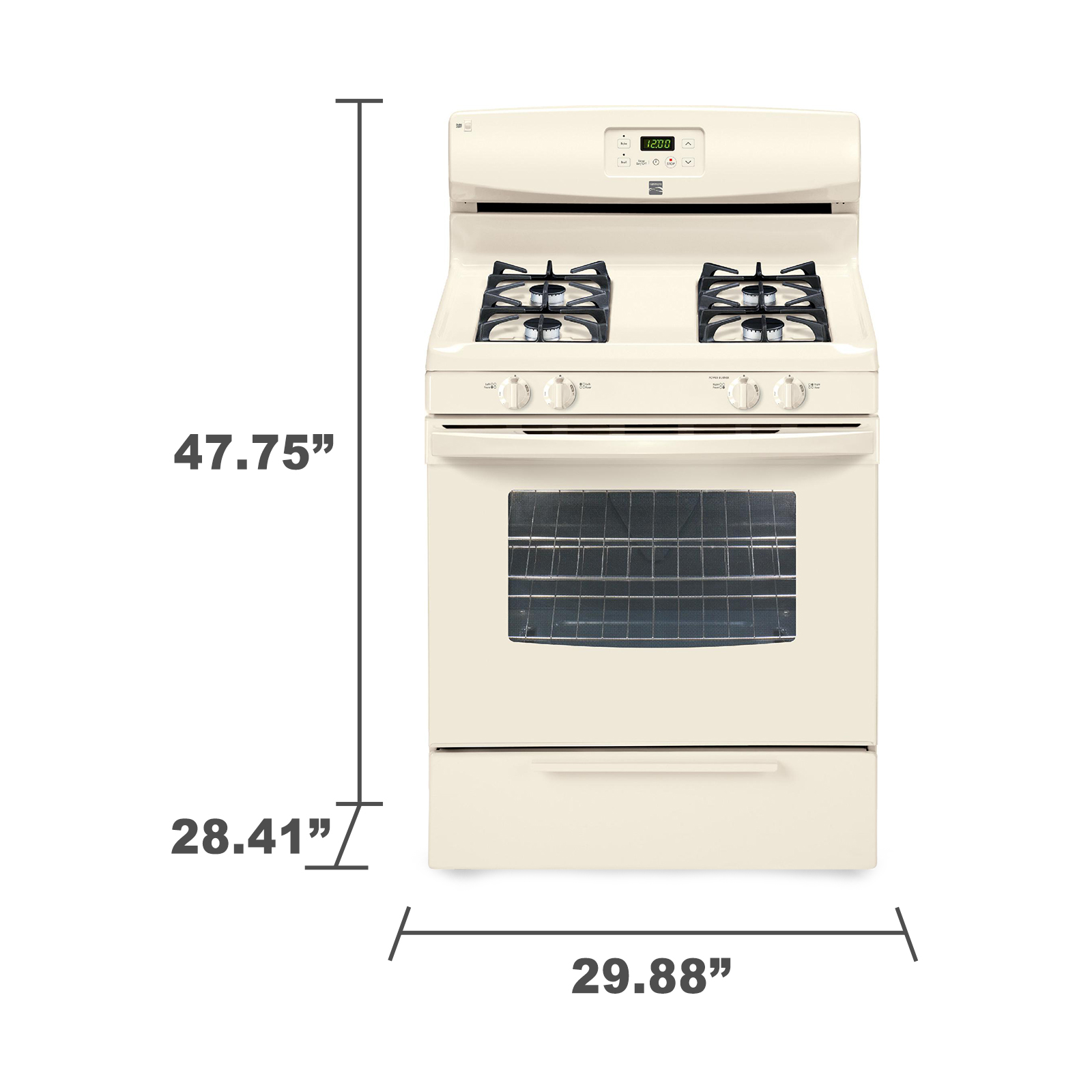 Kenmore 73234 4.2 cu. ft. Gas Range w/ Broil & Serve™ Drawer - Bisque