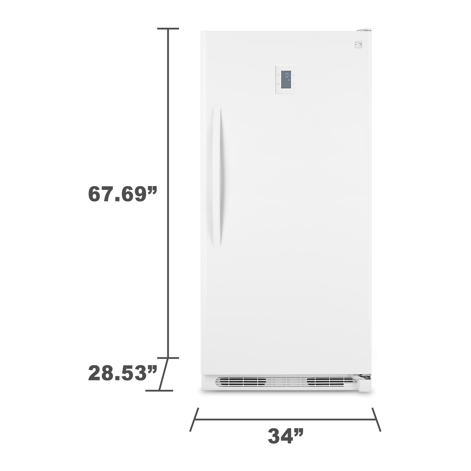 Kenmore Elite 27702 16.6 cu. ft. Upright Freezer - White
