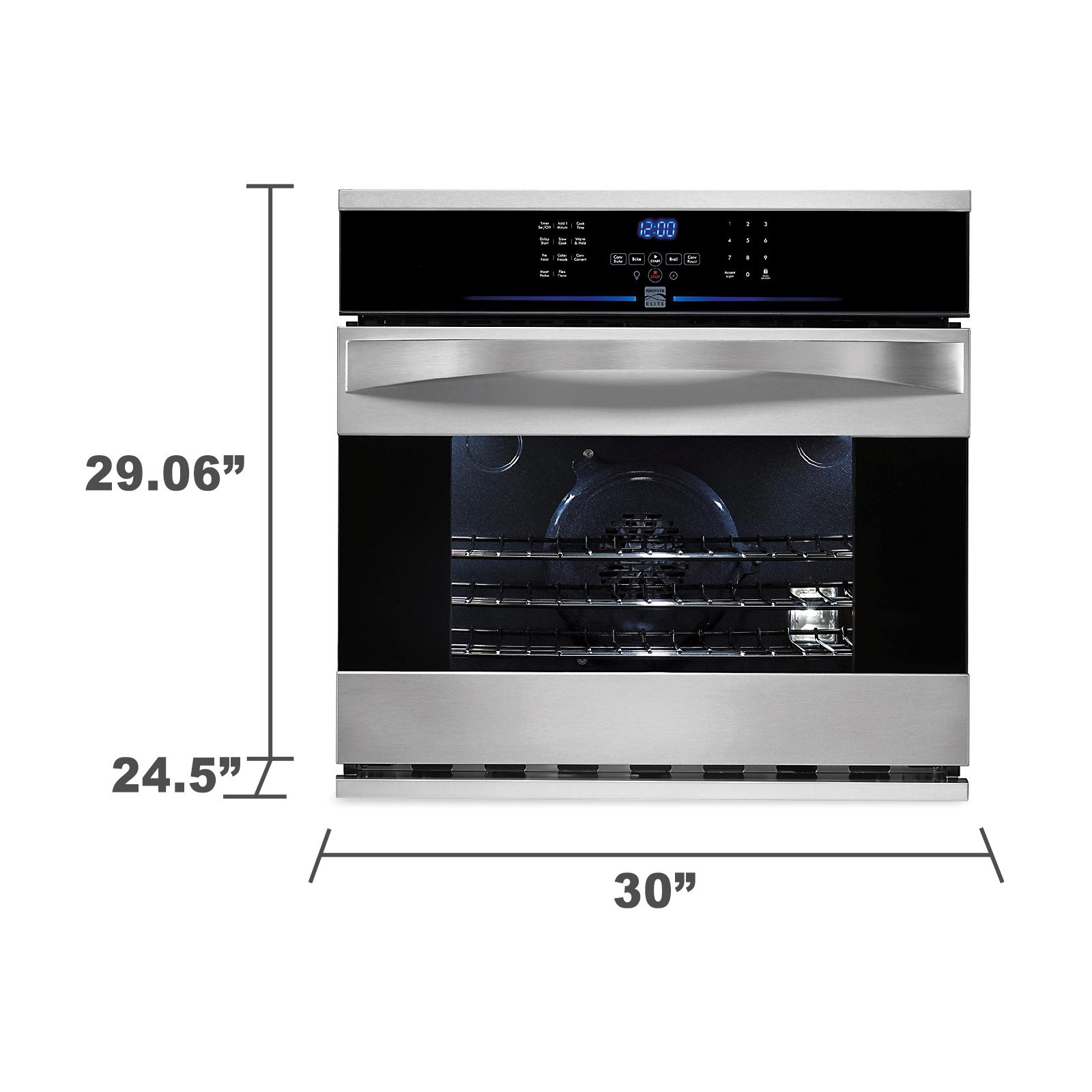 "Kenmore Elite 30"" Electric Self-Clean Single Wall Oven"