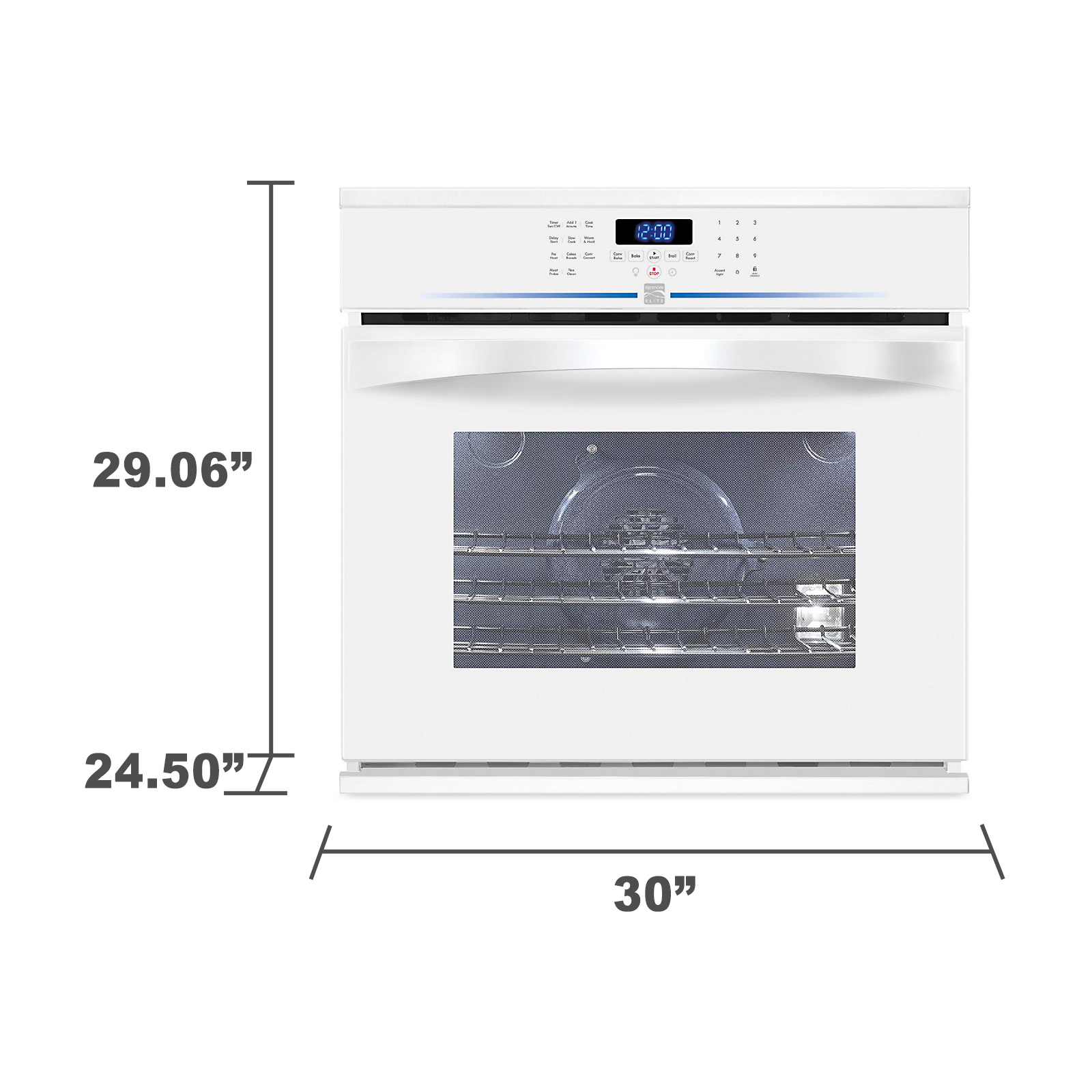 "Kenmore Elite 30"" Electric Self-Clean Single Wall Oven 4808"