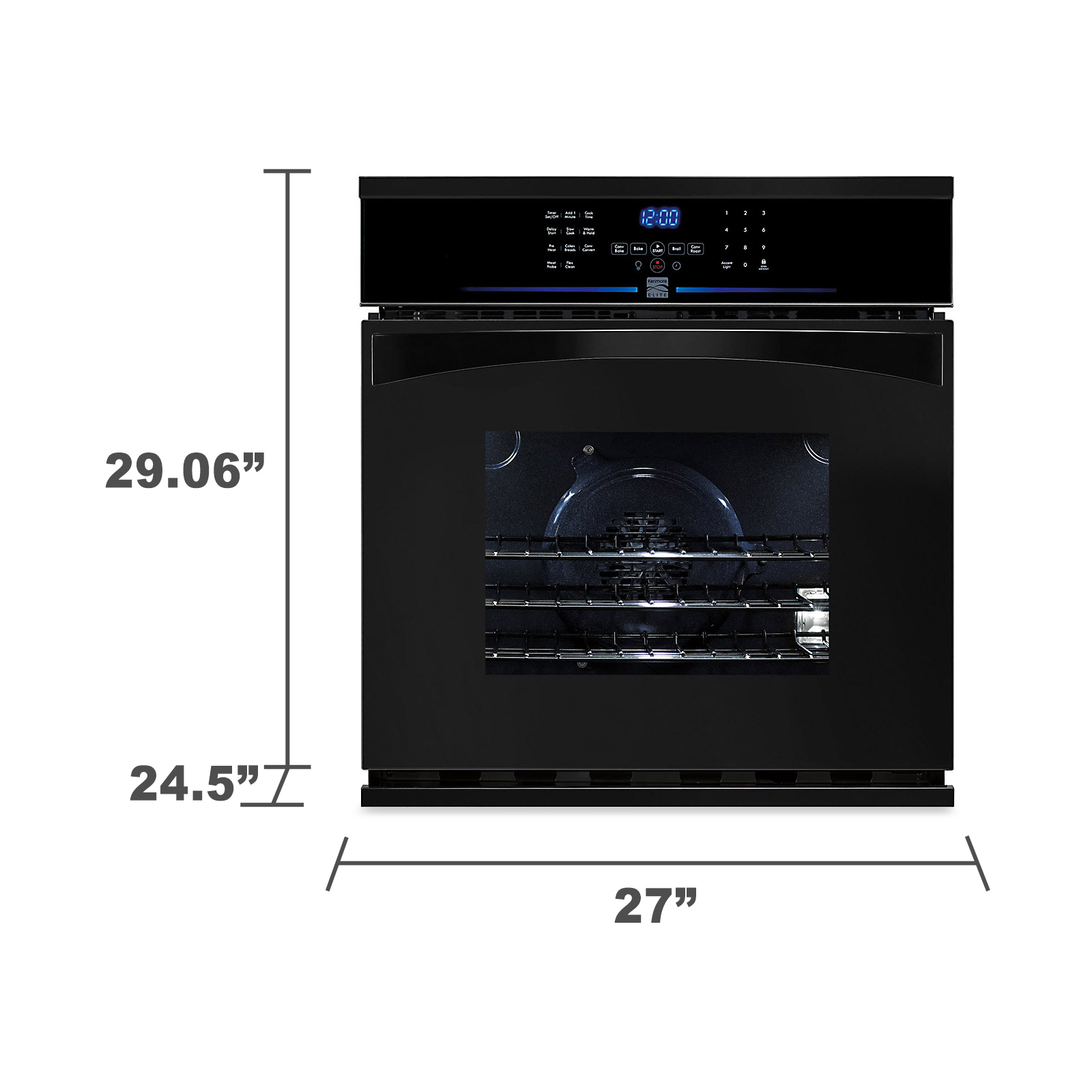 "Kenmore Elite 27"" Electric Self-Clean Single Wall Oven"