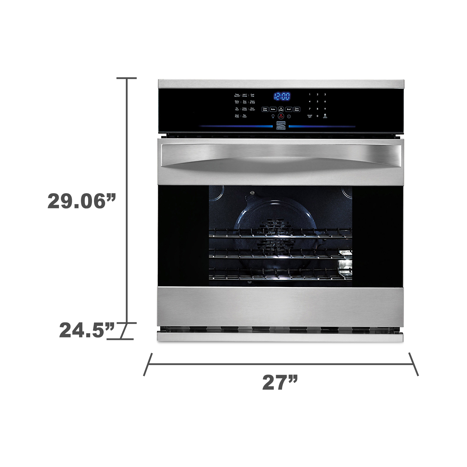 "Kenmore Elite 27"" Electric Self-Clean Single Wall Oven 4807"