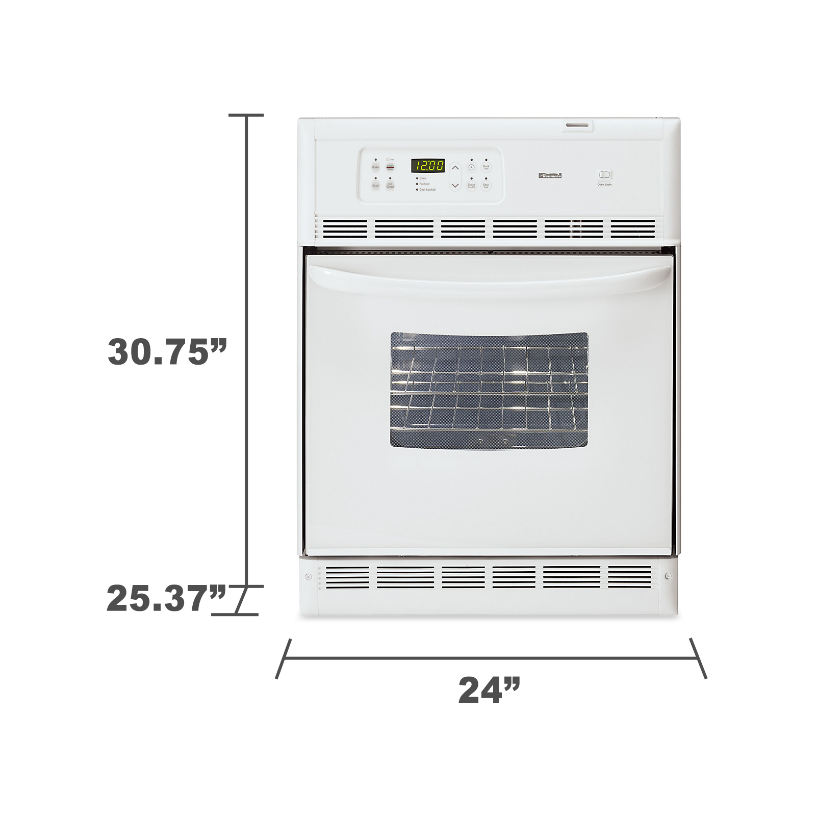 "Kenmore 24"" Self-Cleaning Wall Oven 4045"