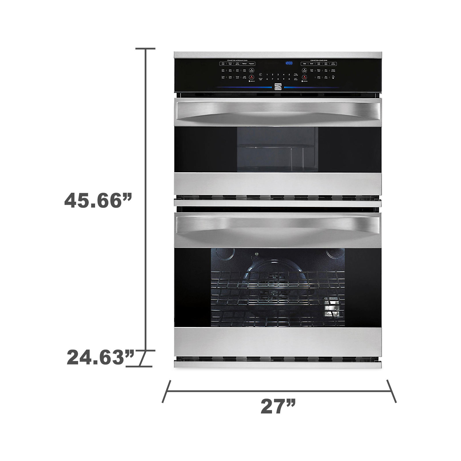 "Kenmore Elite 27"" Electric Combination Wall Oven"