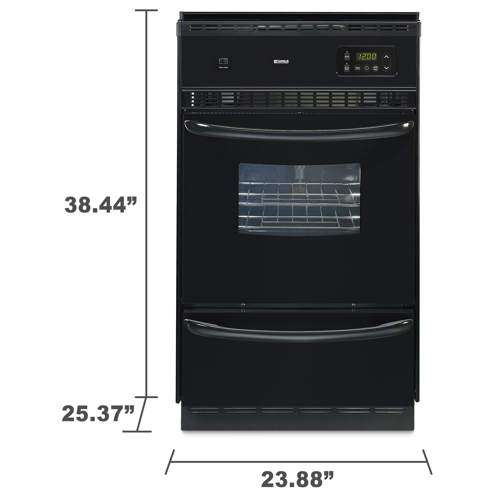 "Kenmore 24"" Manual Clean Gas Wall Oven"