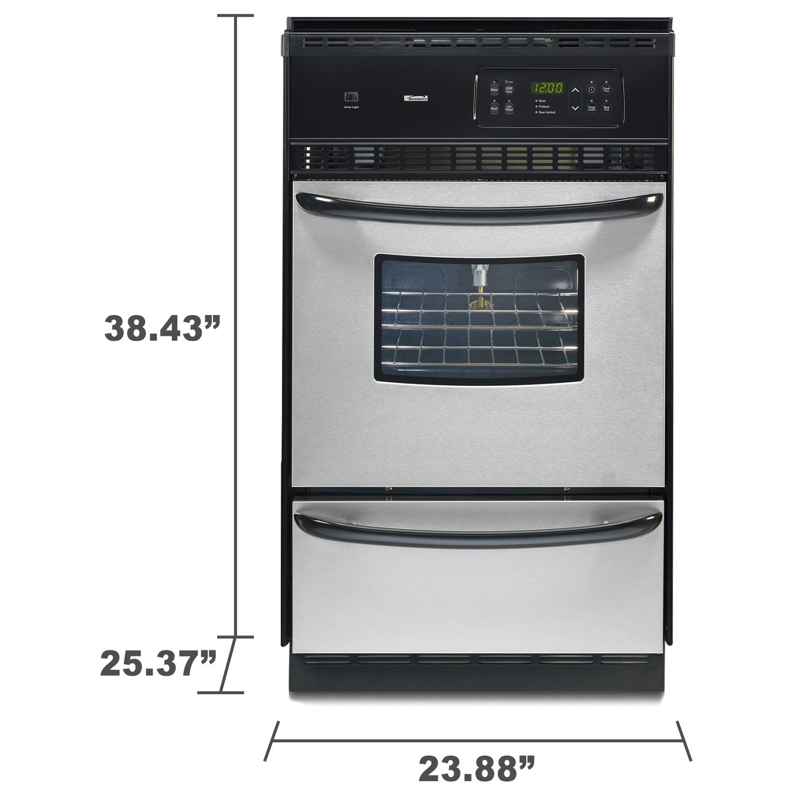 "Kenmore 24"" Gas Wall Oven"