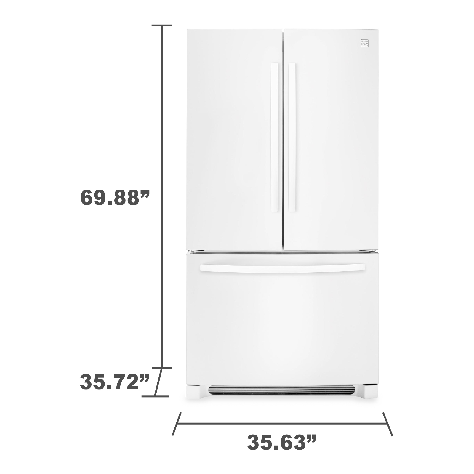 Kenmore 70412 27.6 cu. ft. French Door Refrigerator - White
