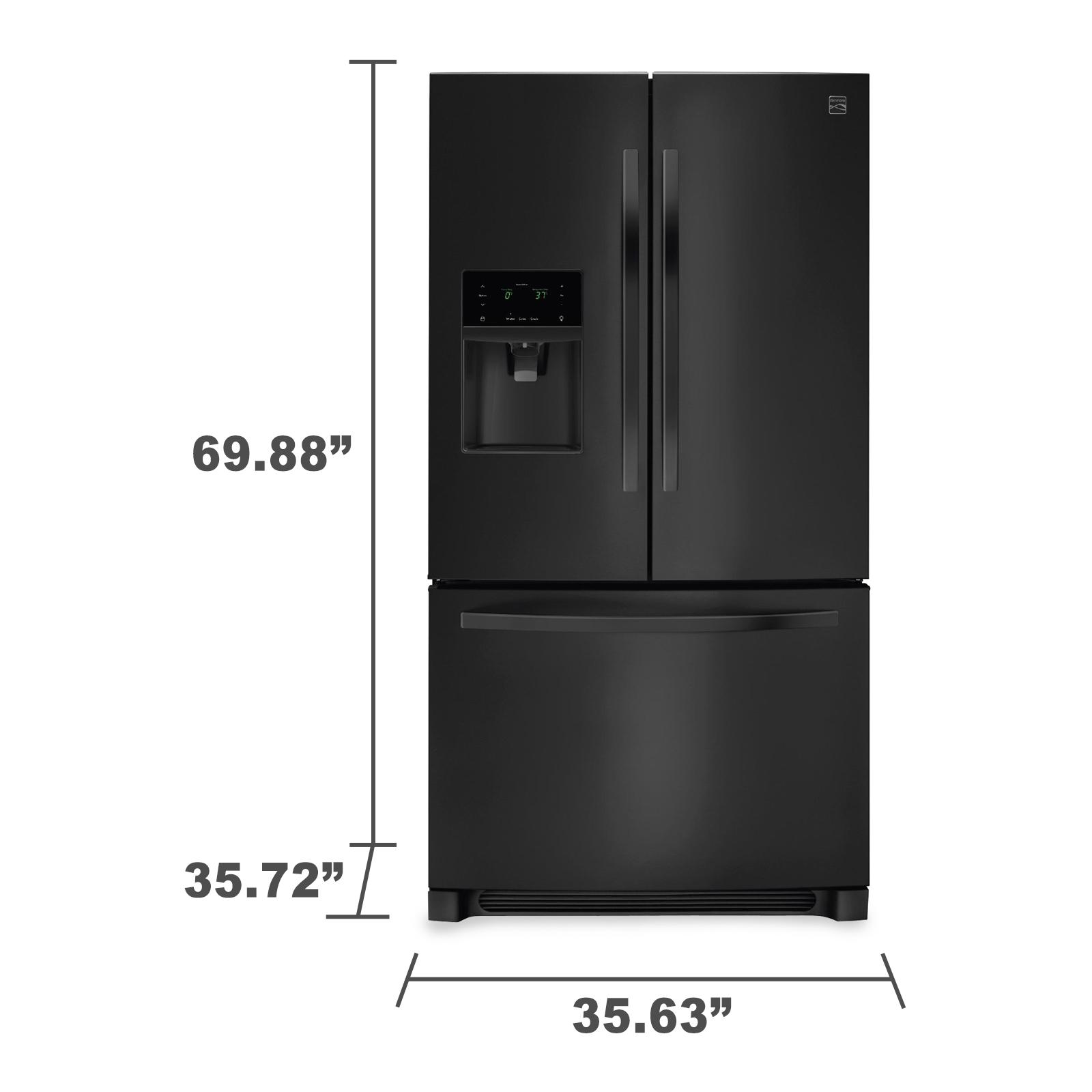 Kenmore 70349 27.2 cu. ft. French Door Refrigerator - Black