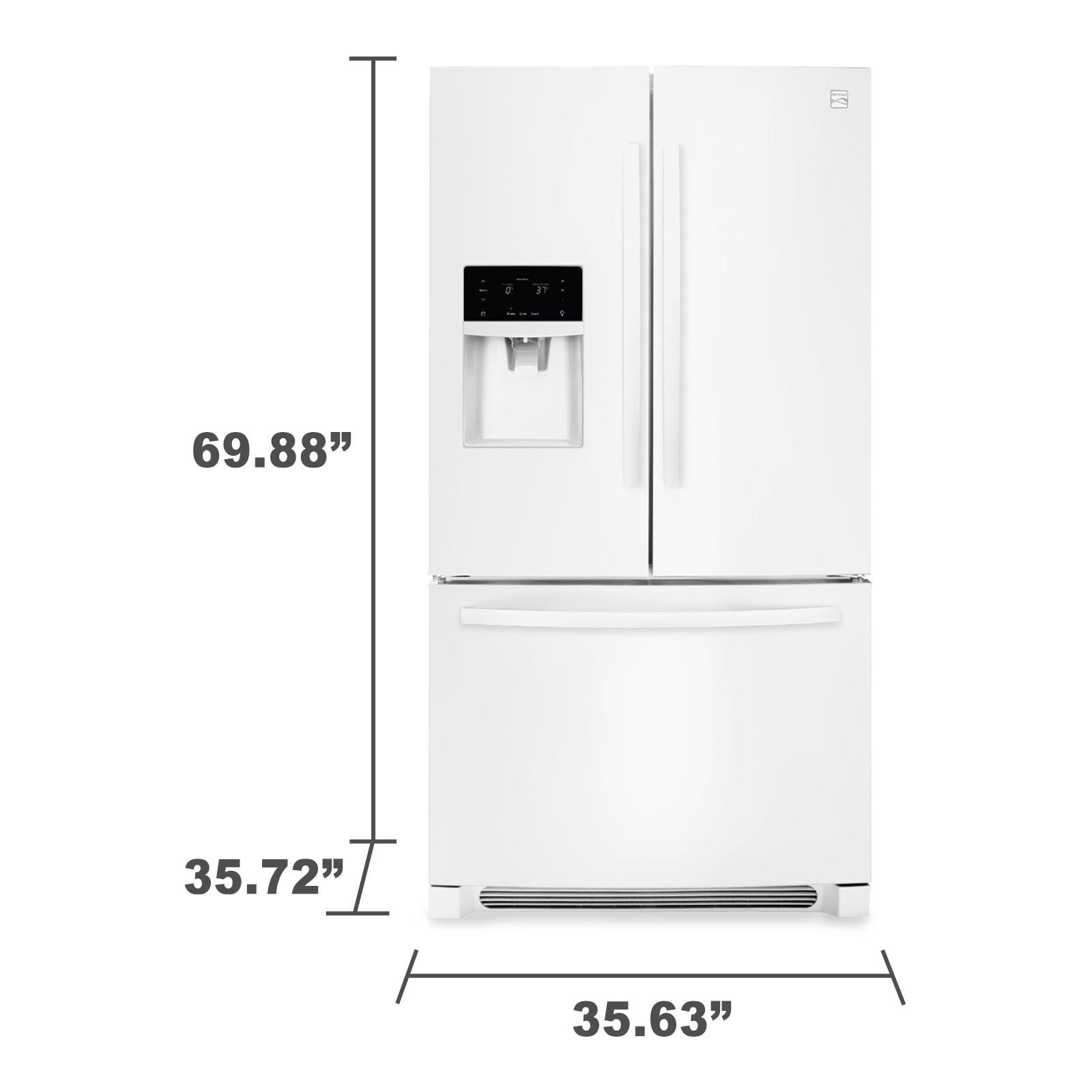 Kenmore 70342 27.2 cu. ft. French Door Refrigerator - White