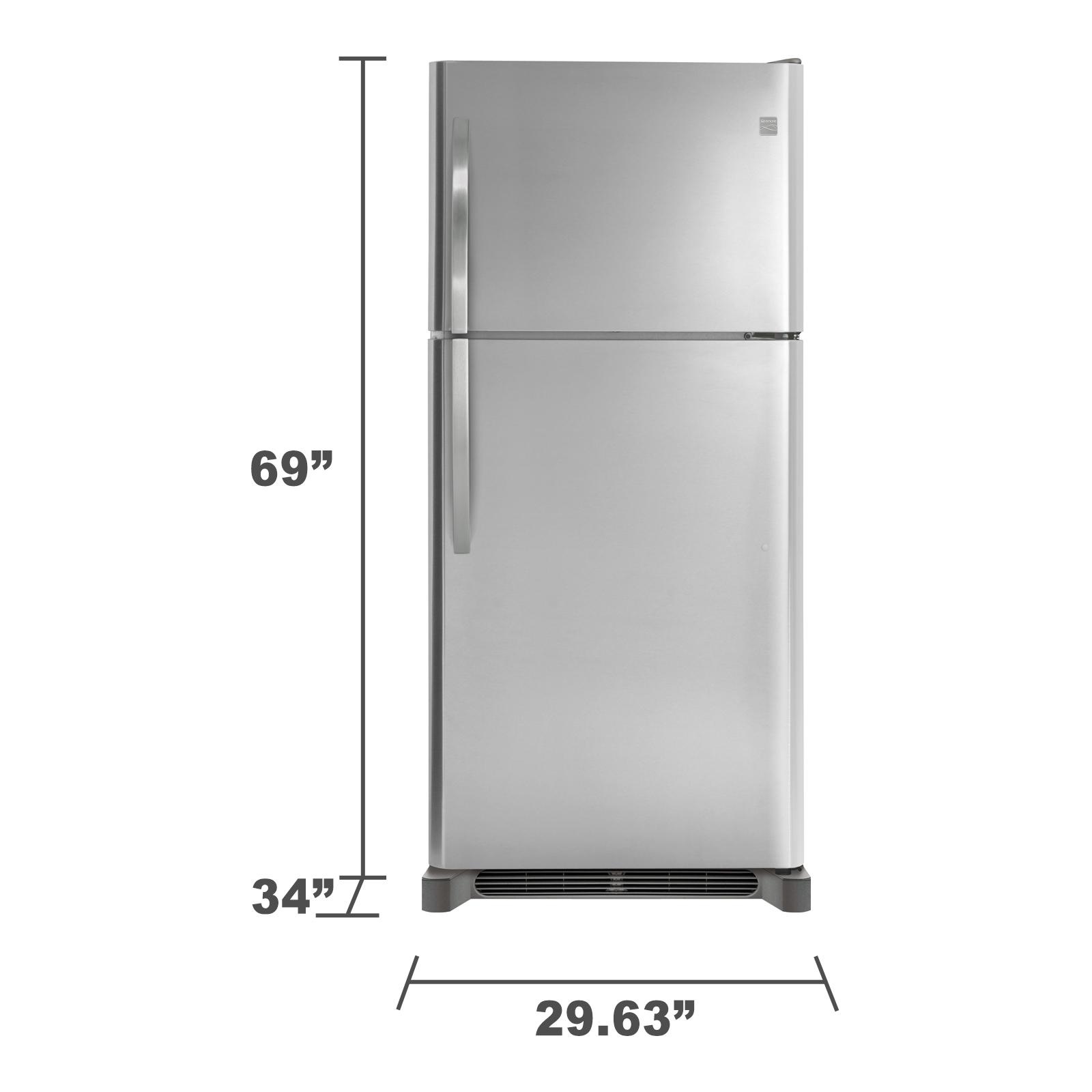 Kenmore 60623 20.4 cu. ft. Top Freezer Refrigerator - Stainless Steel