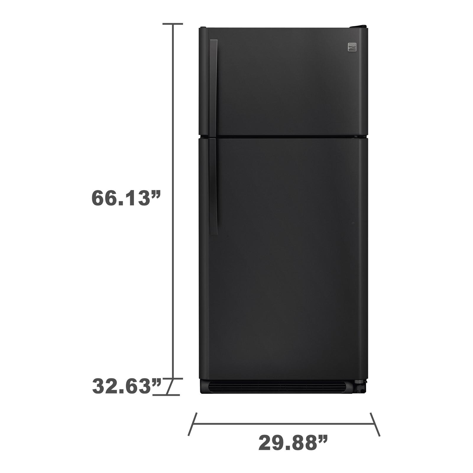Kenmore 60609 18 cu. ft. Top Freezer Refrigerator - Black