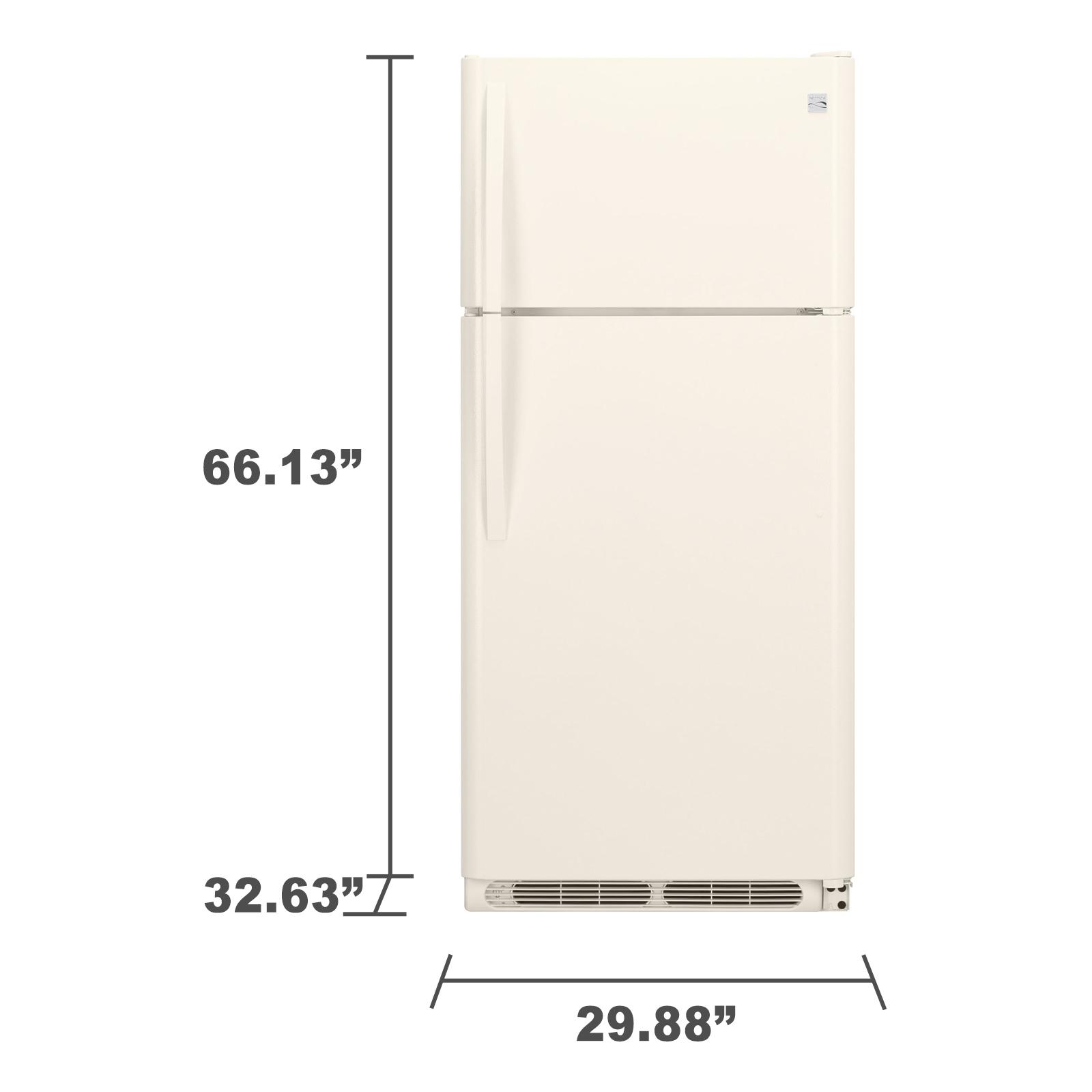 Kenmore 60604 18 cu. ft. Top Freezer Refrigerator - Bisque