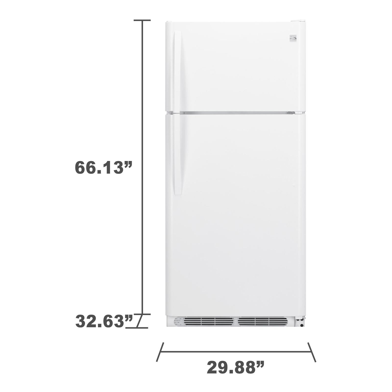 Kenmore 60602 18 cu. ft. Top Freezer Refrigerator - White