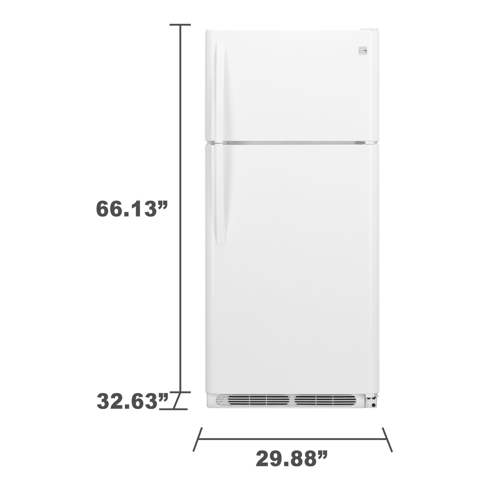 Kenmore 70602 18 cu. ft. Top Freezer Refrigerator - White