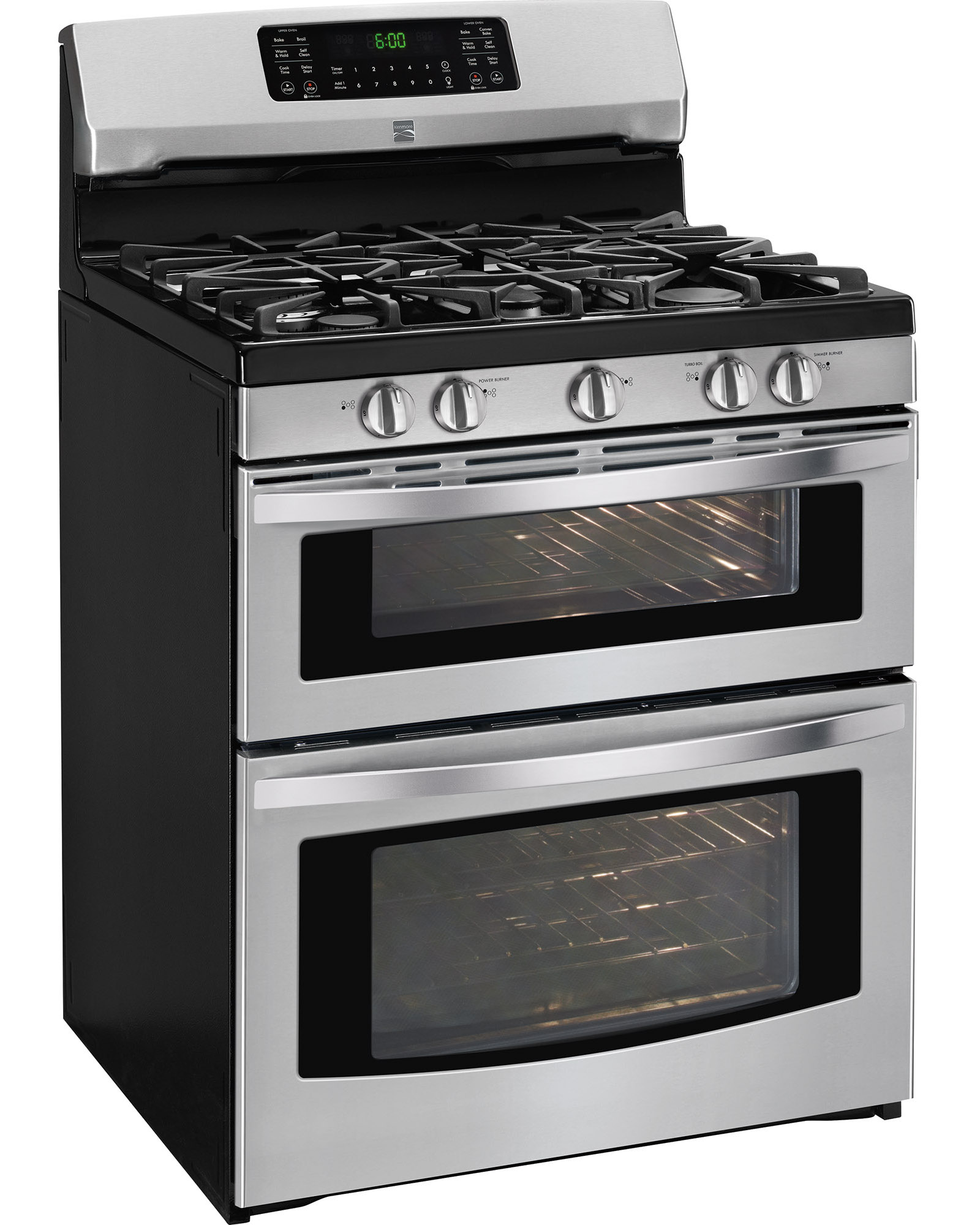Kenmore 78043 5.9 cu. ft. Double-Oven Gas Range - Stainless Steel