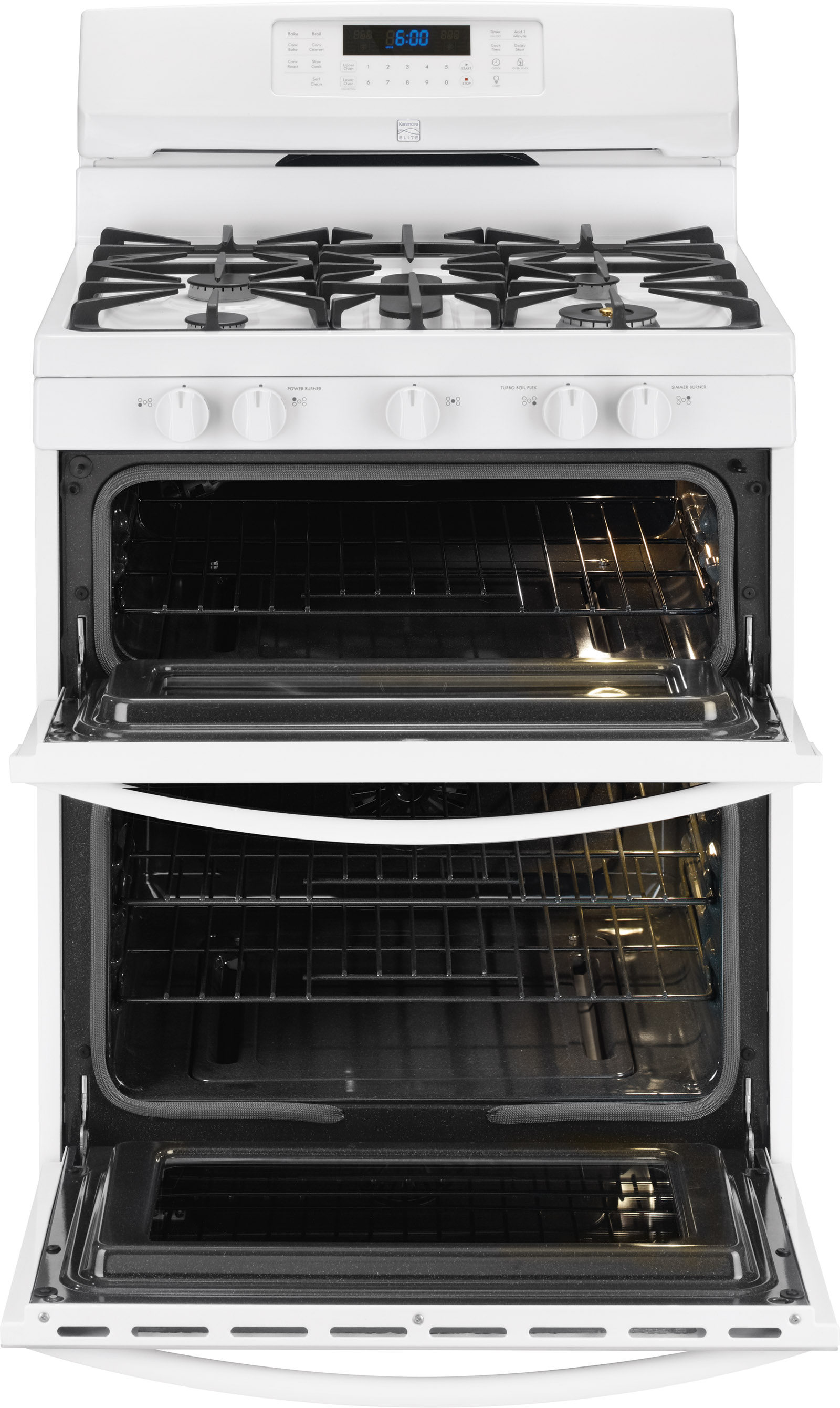Kenmore Elite 75422 5.9 cu. ft. Double-Oven Gas Range - White