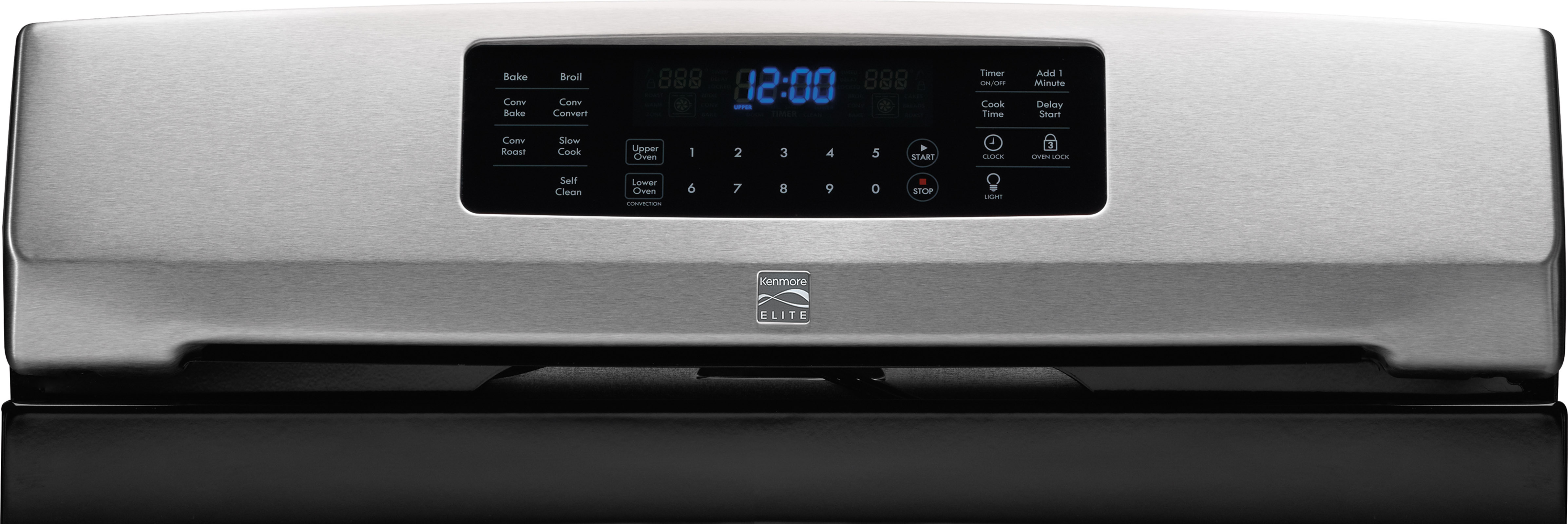 Kenmore Elite 75423 5.9 cu. ft. Double-Oven Gas Range - Stainless w/ Black Top