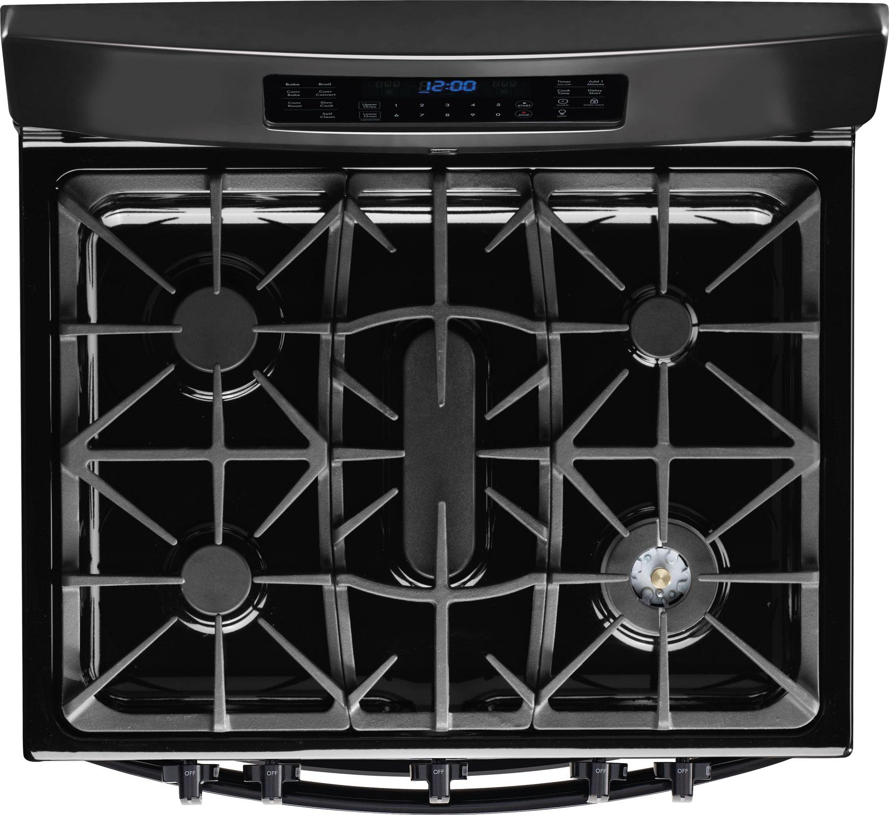 Kenmore Elite 75429 5.9 cu. ft. Double-Oven Gas Range - Black