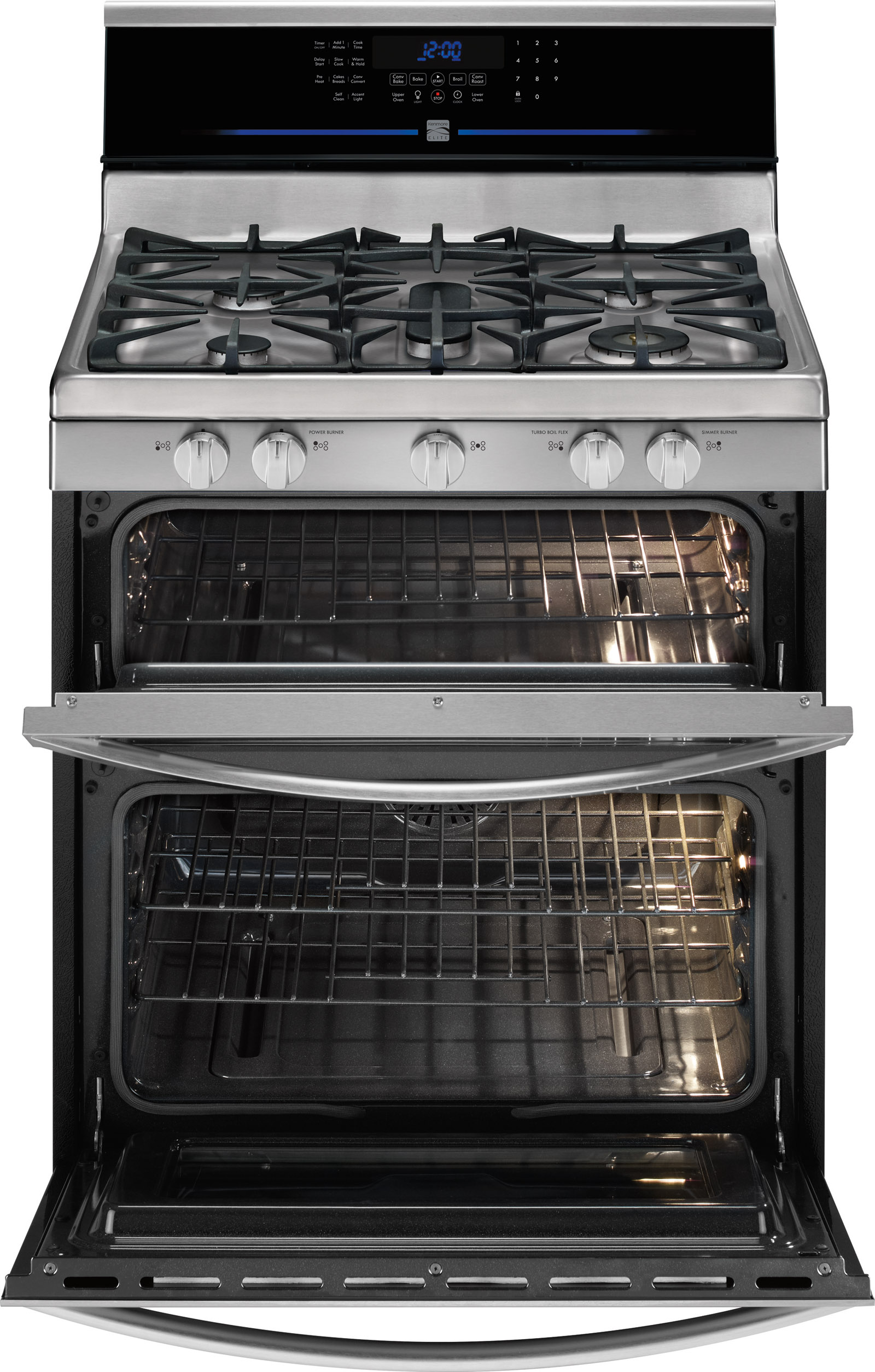 Kenmore Elite 78153 5.9 cu. ft. Double-Oven Gas Range - Stainless Steel