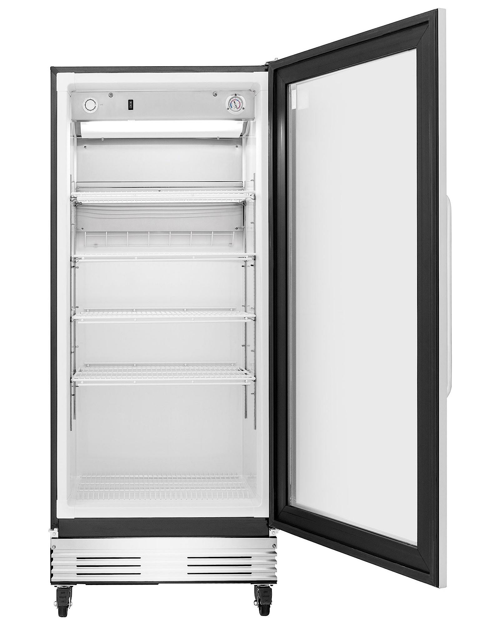 Frigidaire FCGM181RQB 18.4 cu. ft. Commercial Grade Glass Door Refrigerator - Stainless Steel