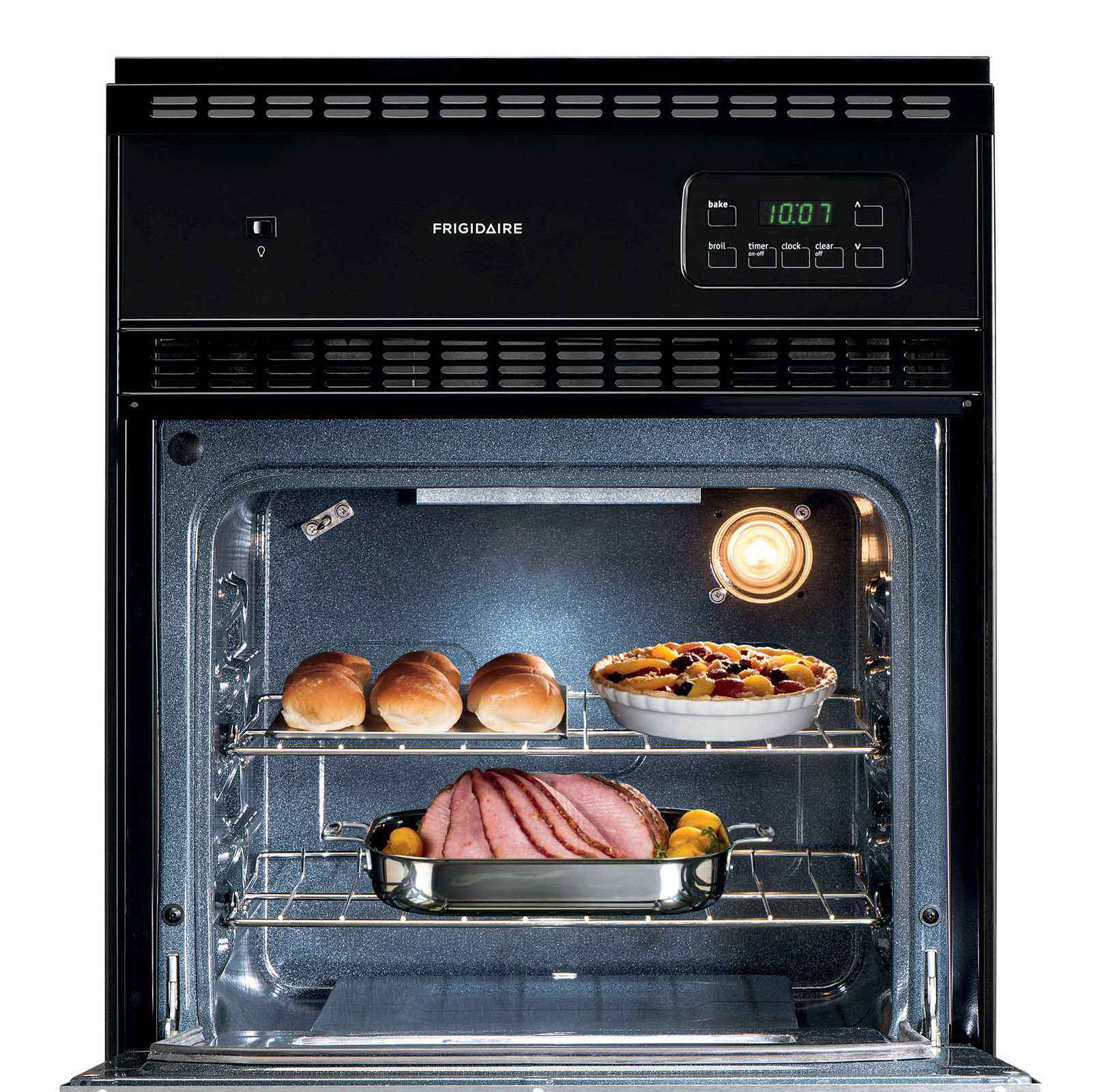 """Frigidaire 24"""" Gas  Standard-Clean Single Wall Oven w/ Electronic Controls - Stainless"""