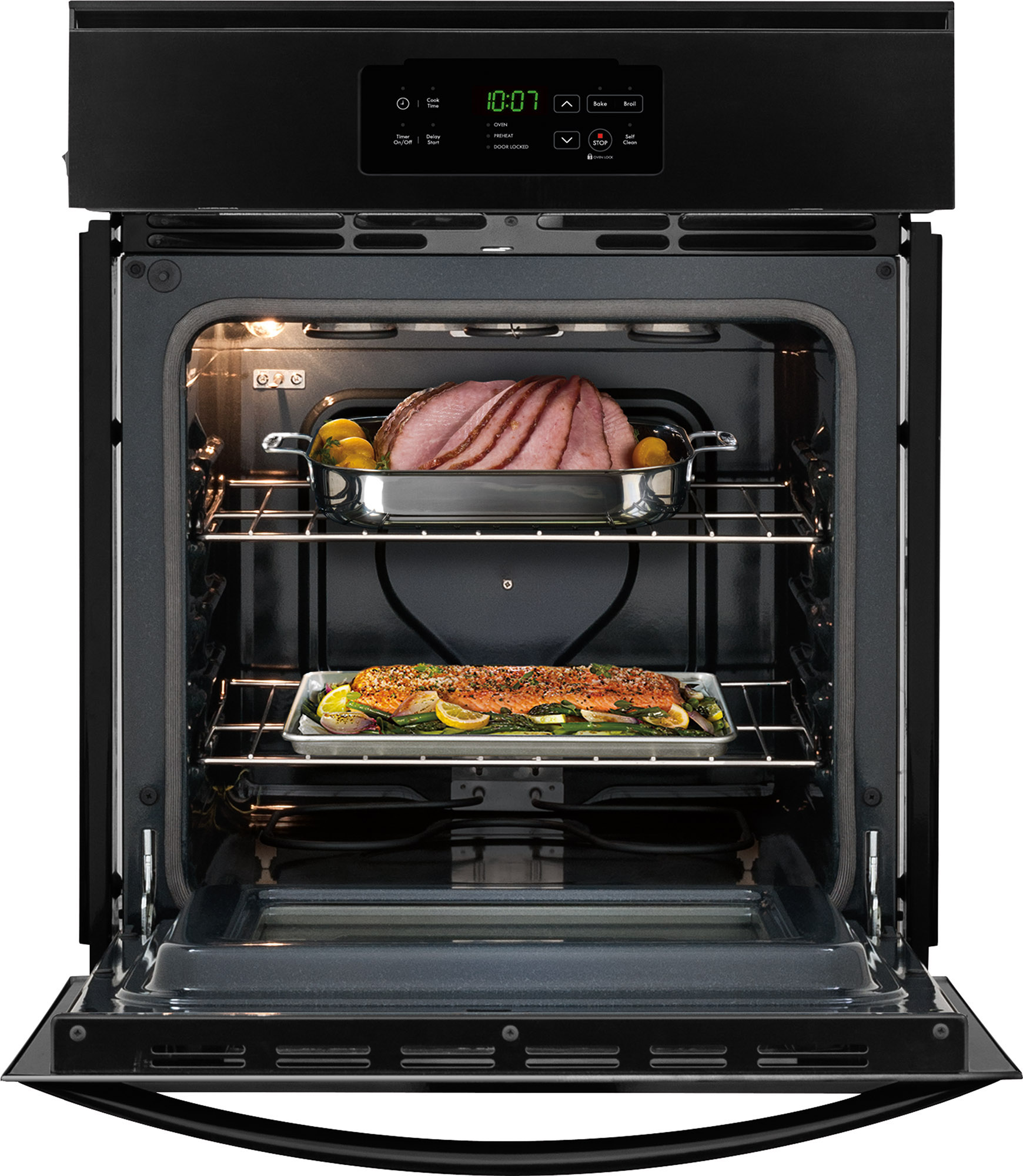 """Kenmore 40299 24"""" Manual Clean Gas Wall Oven - Black"""