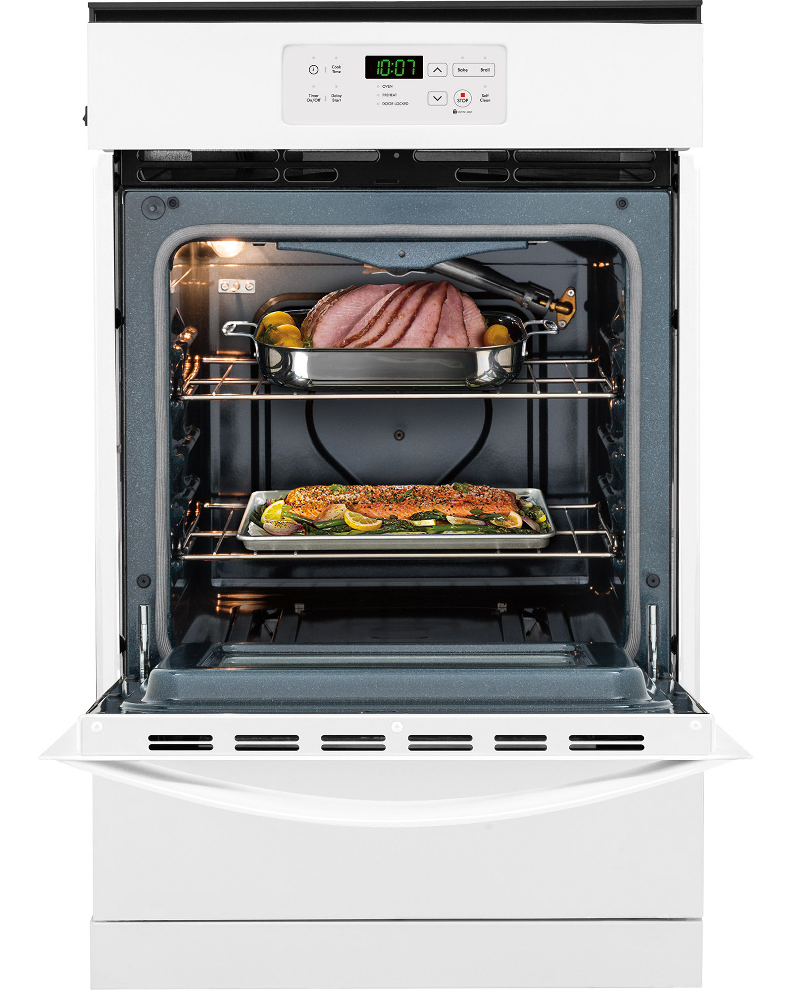 """Kenmore 40302 24"""" Gas Wall Oven - White"""