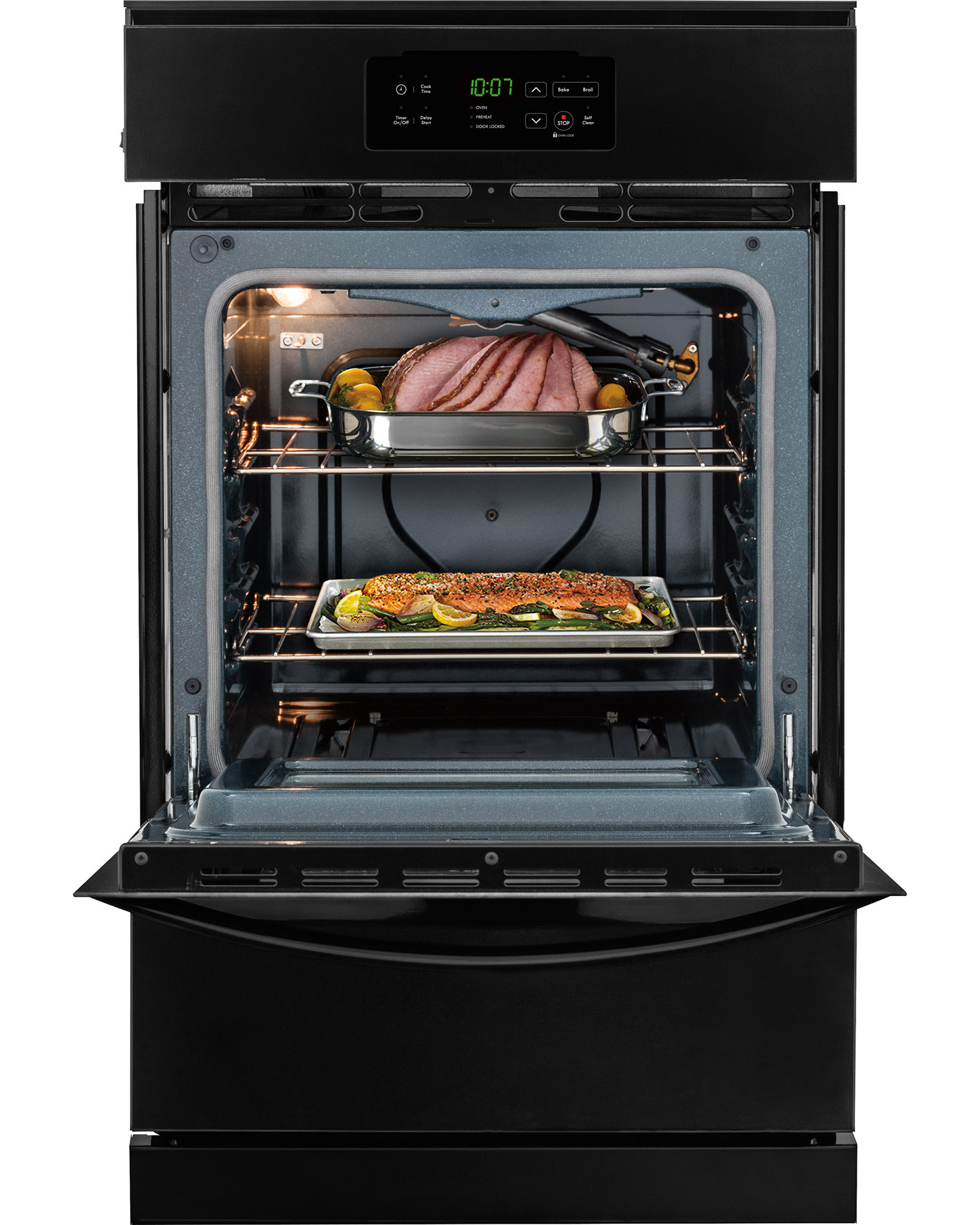 "Kenmore 40309 24"" Gas Wall Oven - Black"