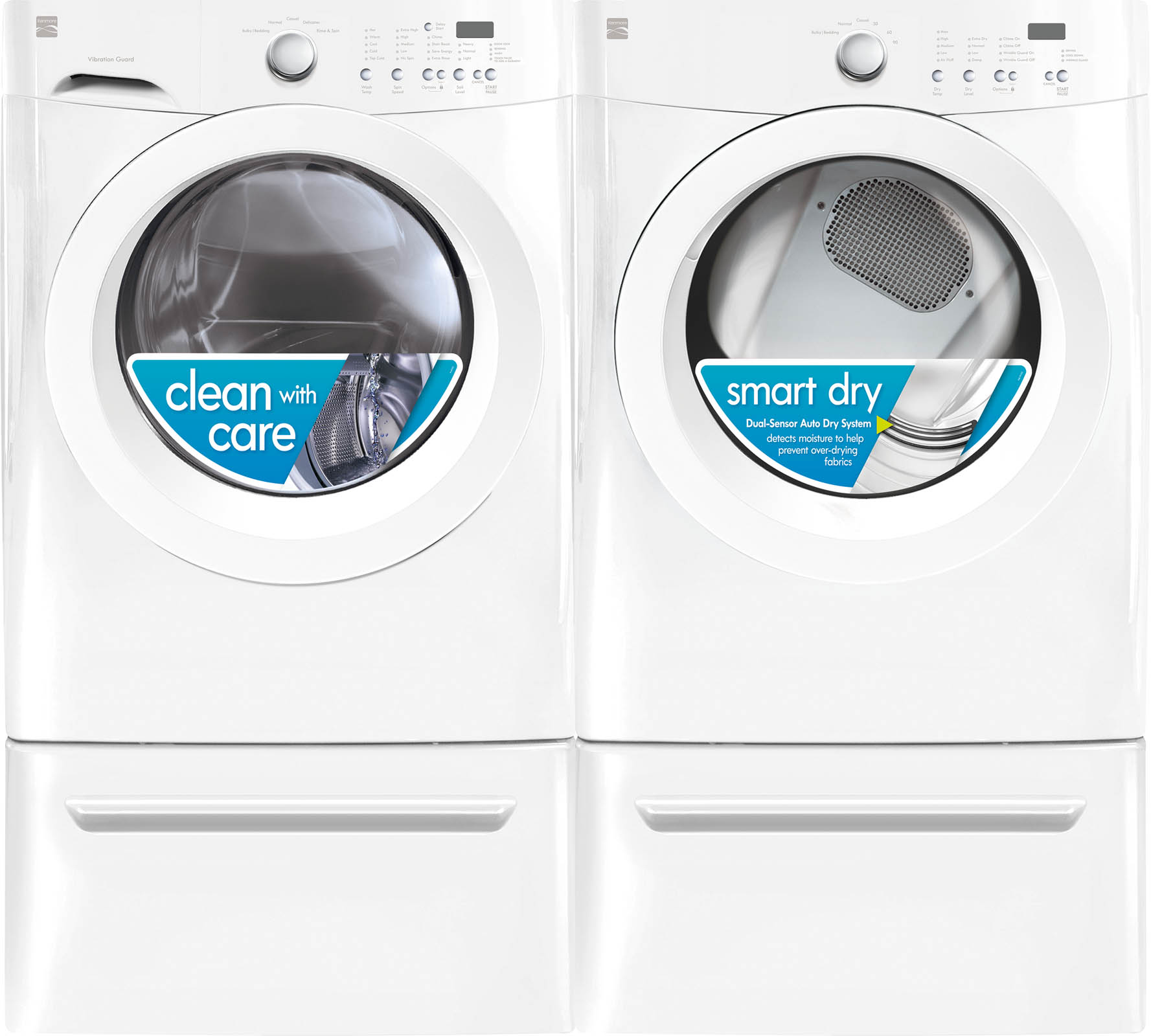 3.9 cu. ft. Front-Load Washer & 7.0 cu. ft. Dryer Bundle w/ Optional Pedestals