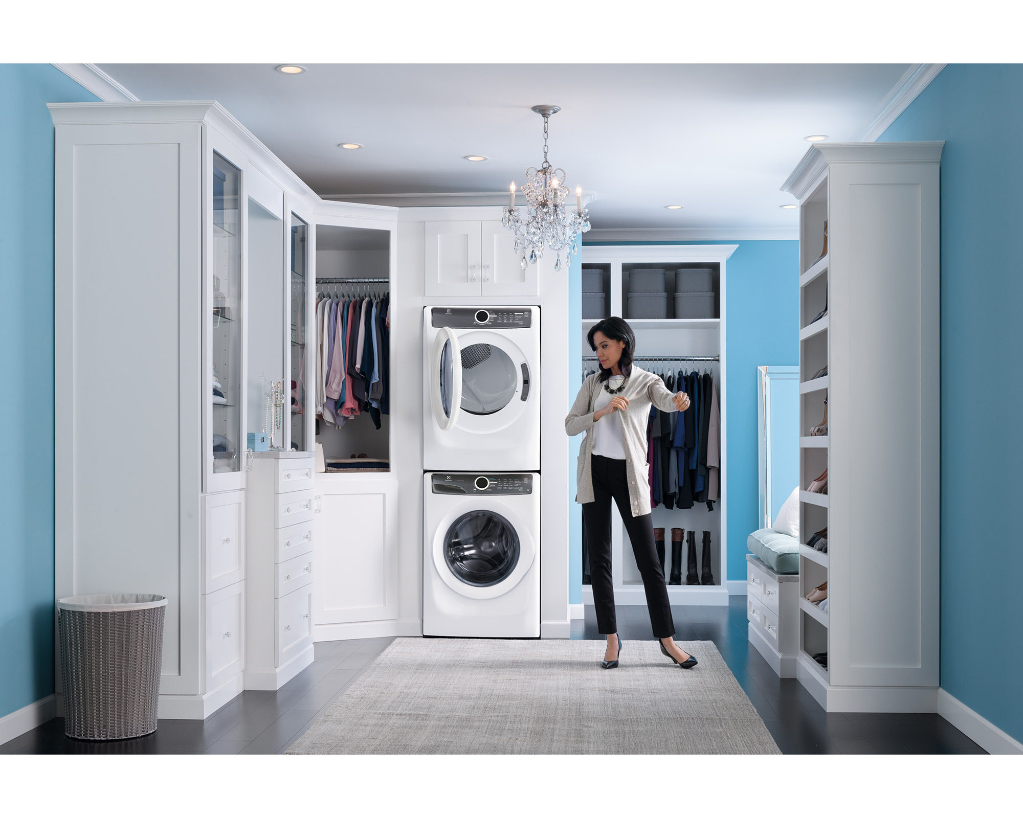 Electrolux EFME417SIW 8.0 cu. ft. Perfect Steam™ Electric Dryer - White