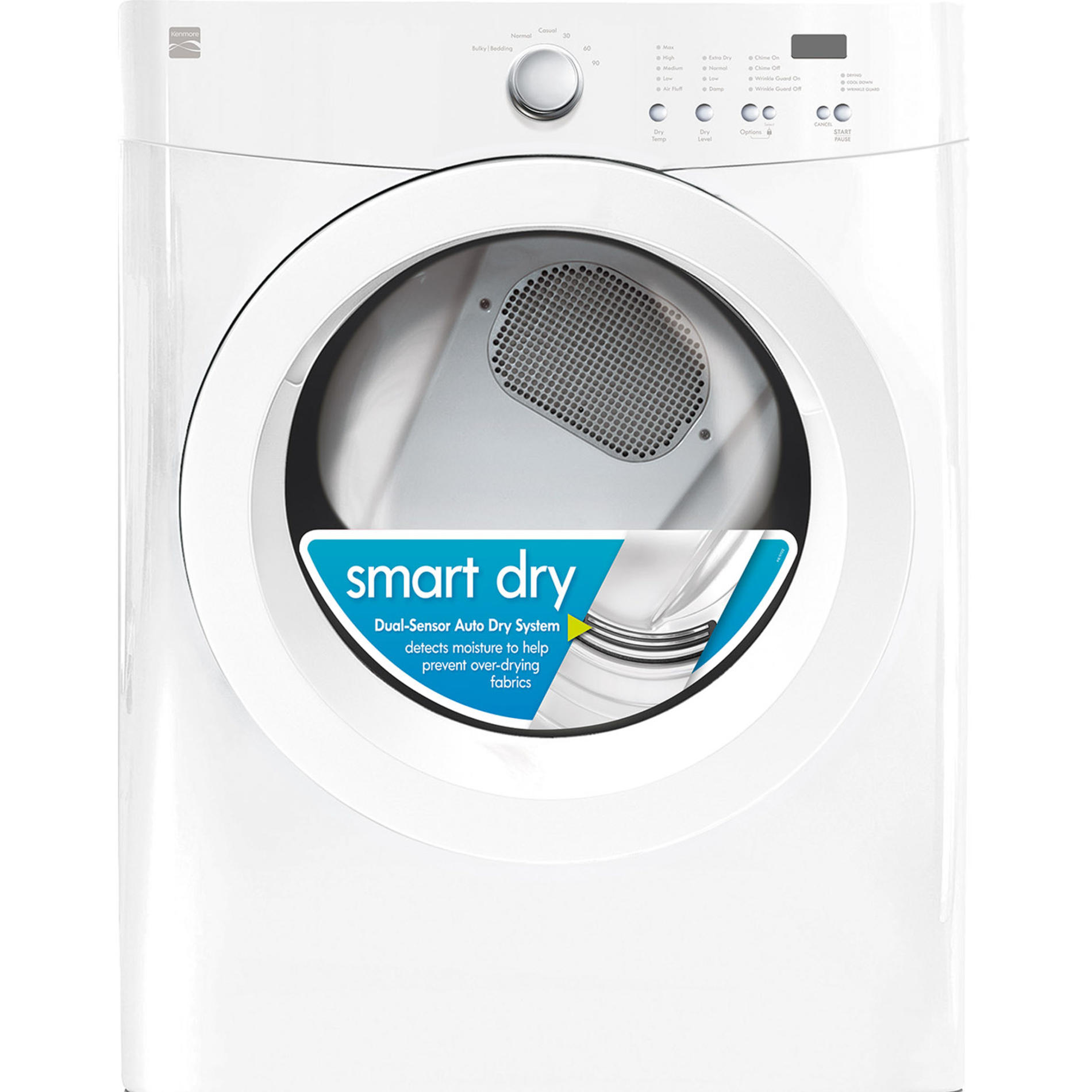Kenmore 91122 7.0 cu. ft. Gas Dryer w/ Wrinkle Guard - White
