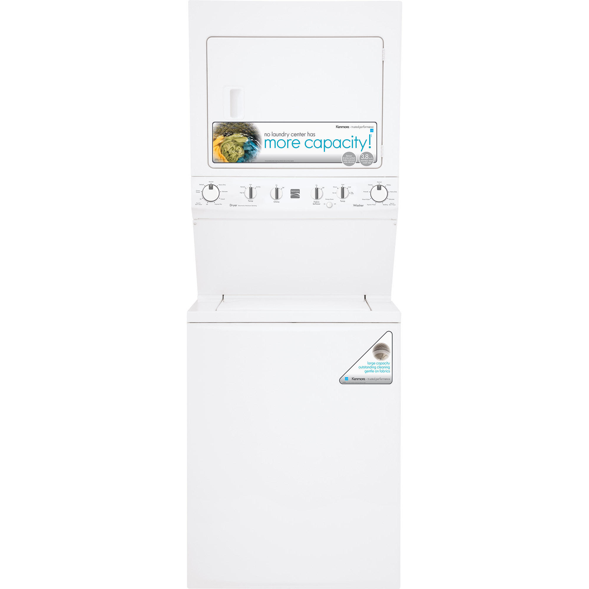 Kenmore High Efficiency 27 Super Capacity 3.8 cu. ft. Electric Laundry Center- White