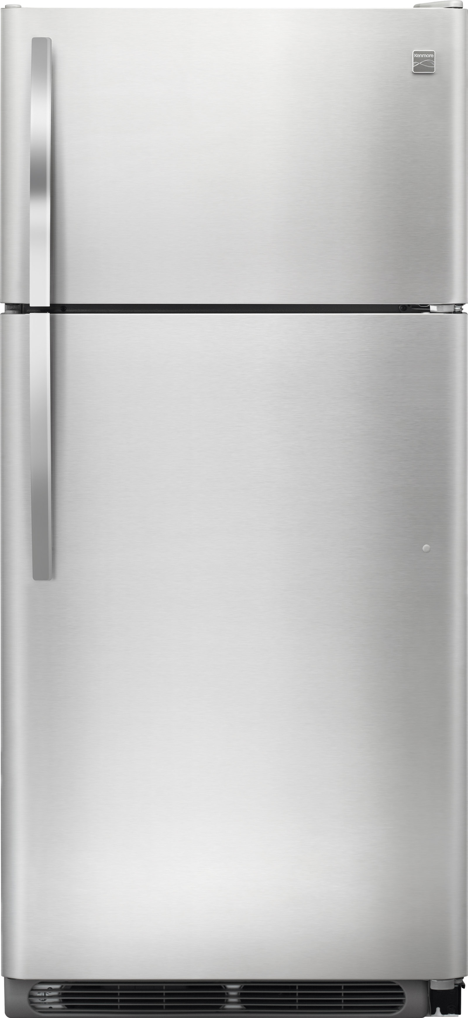 Kenmore 60505 18 cu. ft. Top Freezer Refrigerator w/ Glass Shelves - Stainless Steel