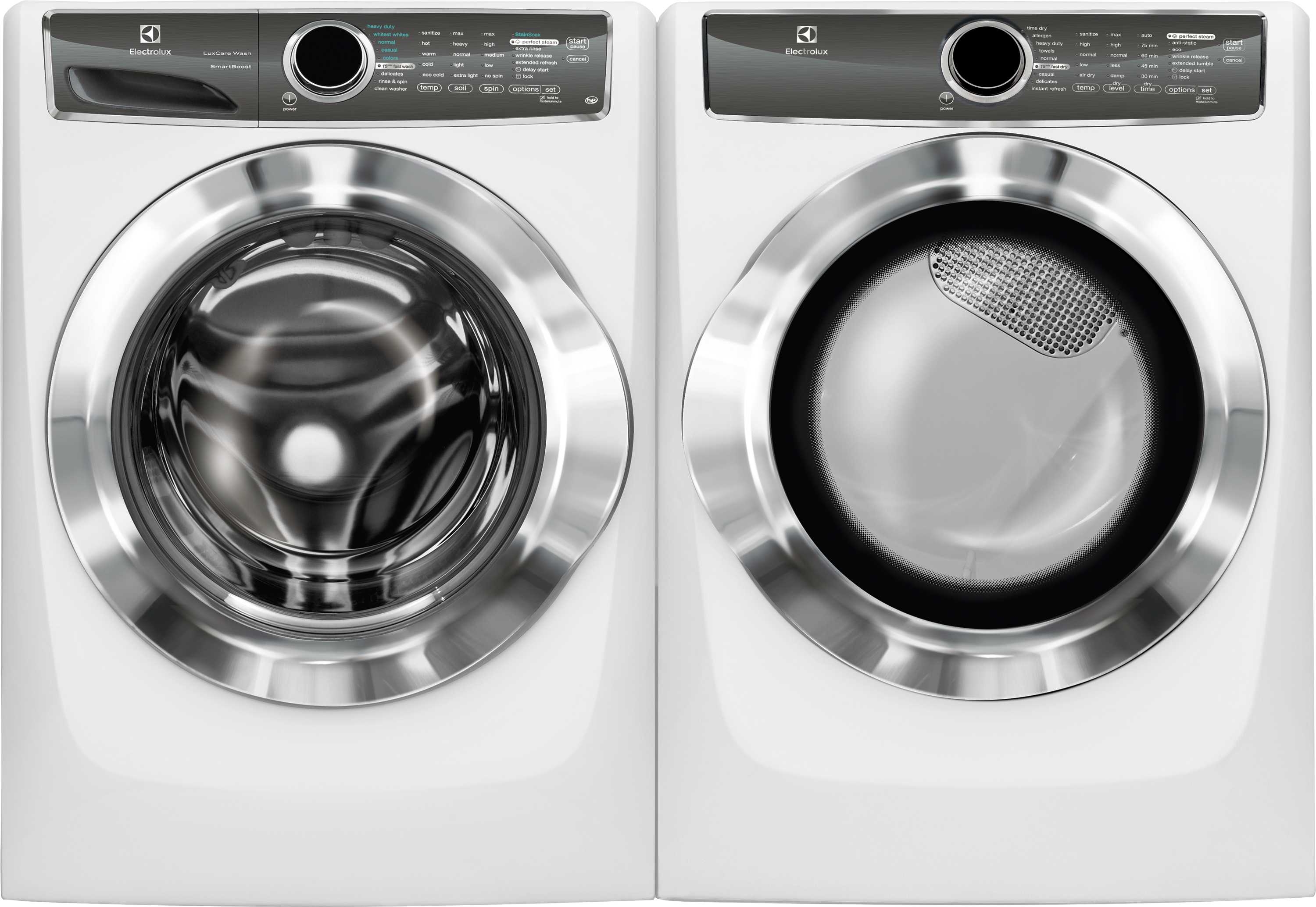 4.4 cu. ft. Front-Load Perfect Steam Washer w/ 8.0 cu. ft. Dryer w/ Allergen Cycle - White