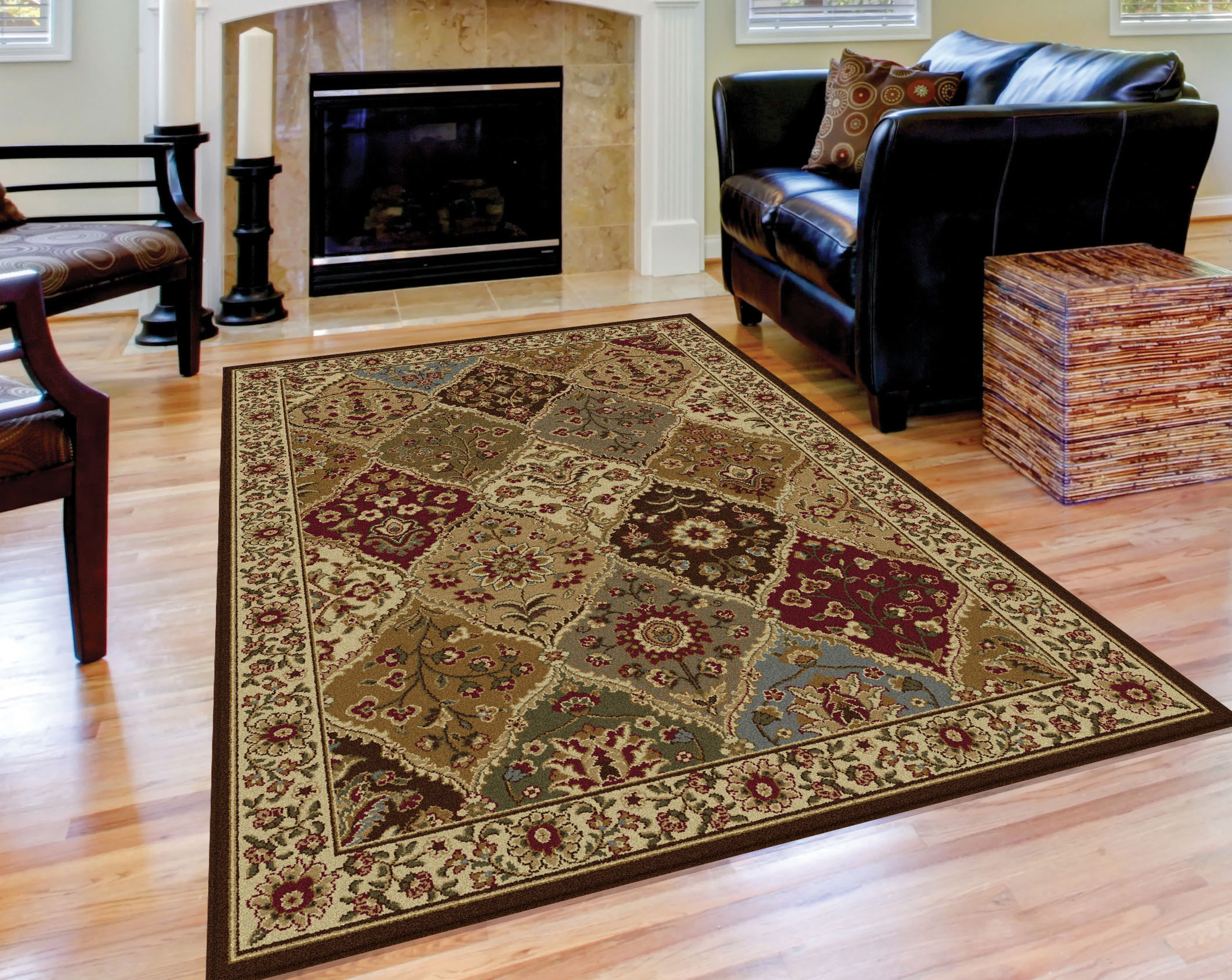 Tayse Rugs Elegance Cambridge Multi Traditional Area Rug 3 pc. Set