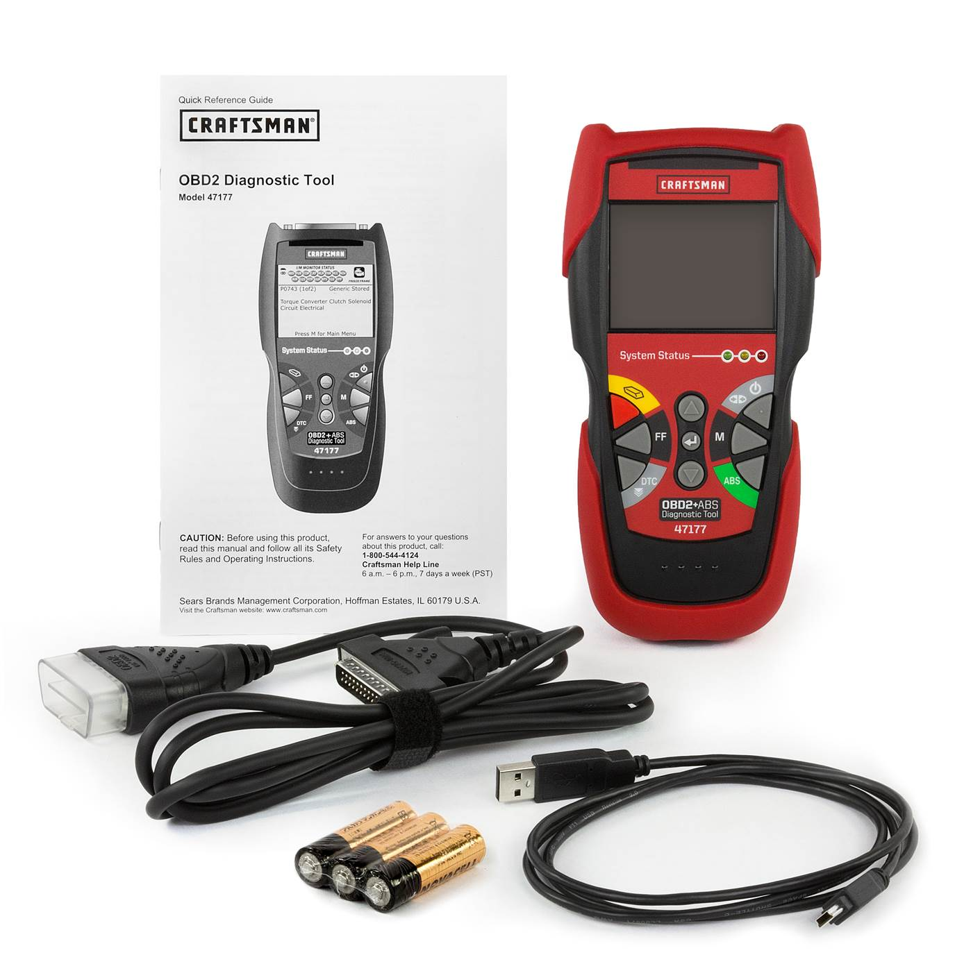 Craftsman CanOBD2 CODE READER  with ABS