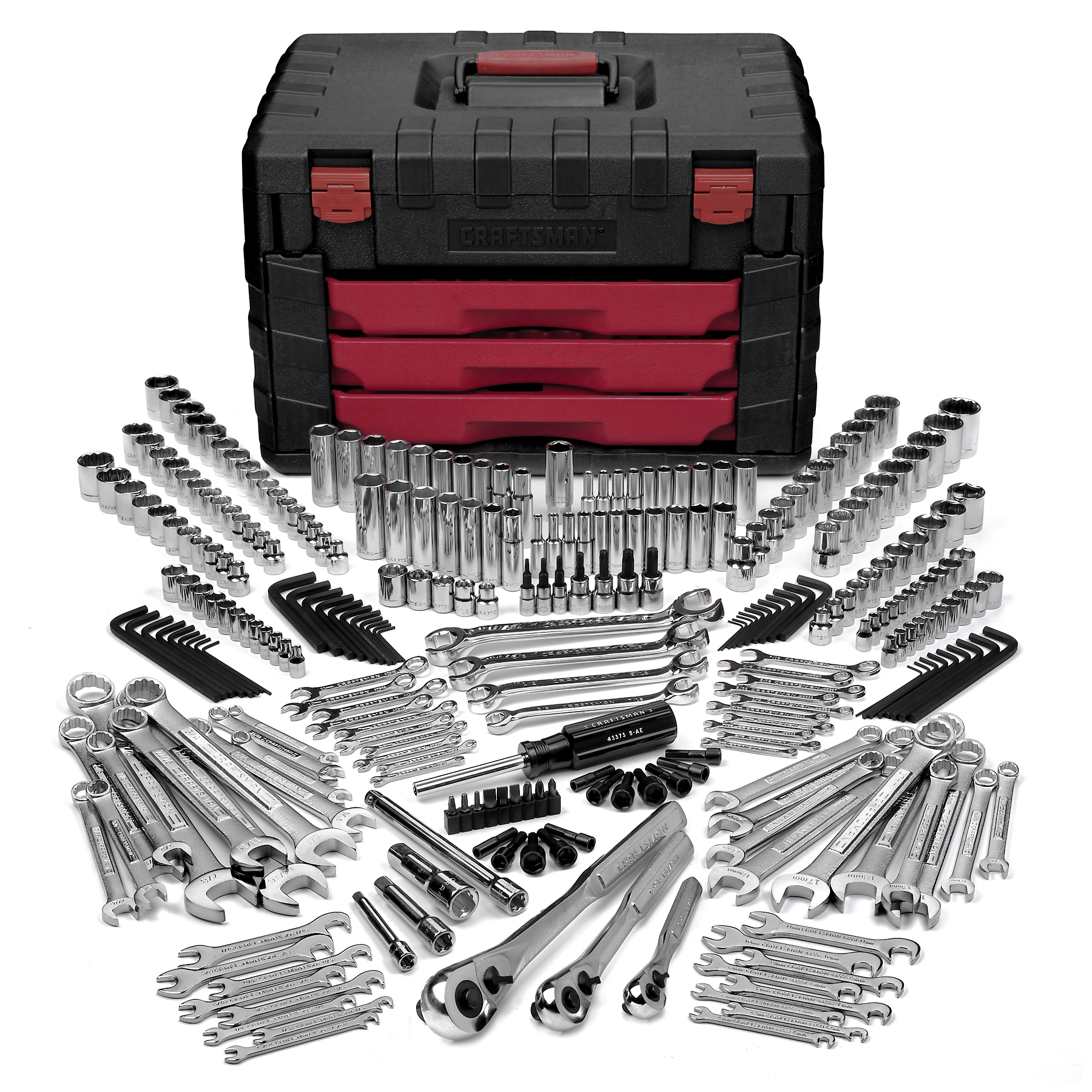 Craftsman 289pc Mechanics Tool Set w/ 3-Drawer Lift Top Chest