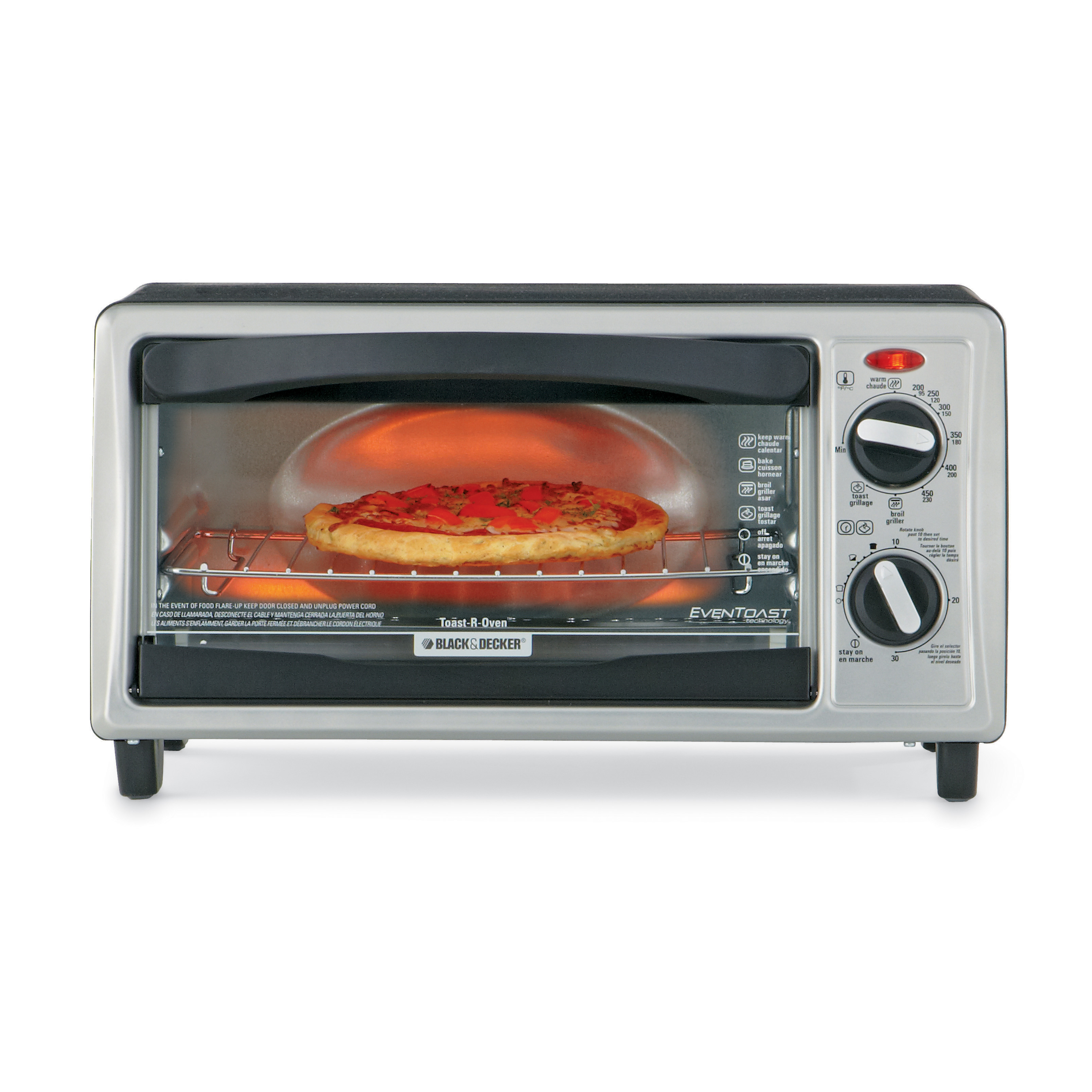 Black & Decker 4-Slice Toaster Oven Silver