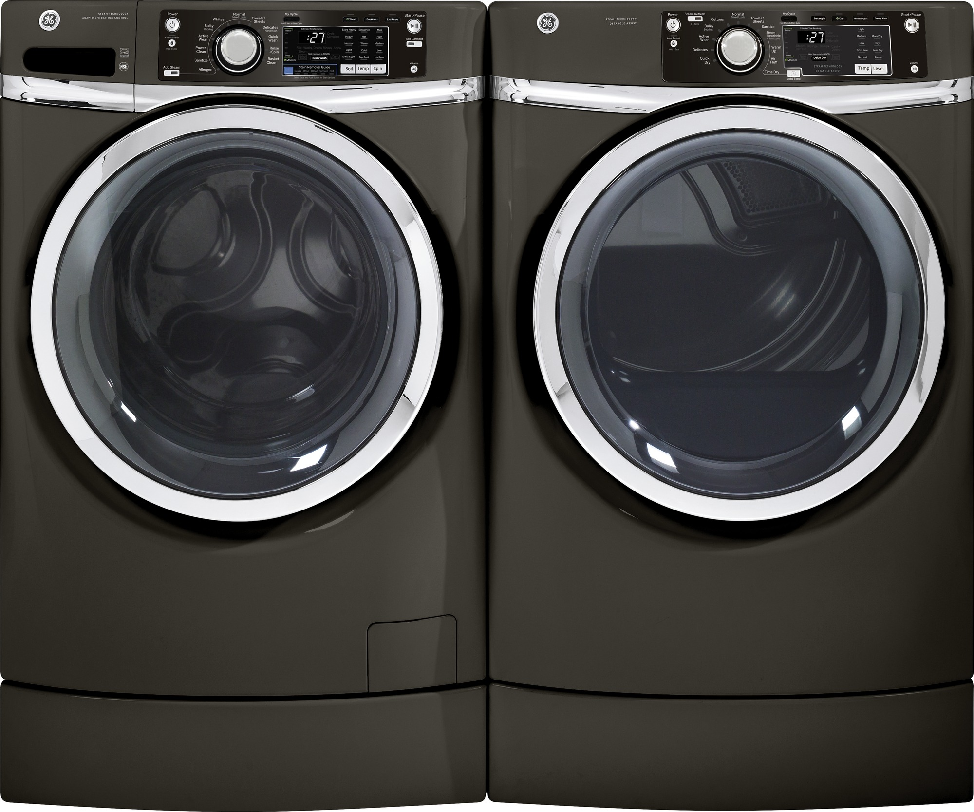 GE Appliances GFWR2705HMC 4.5 cu. ft. RightHeight™ Design Front-Load Washer - Metallic Carbon
