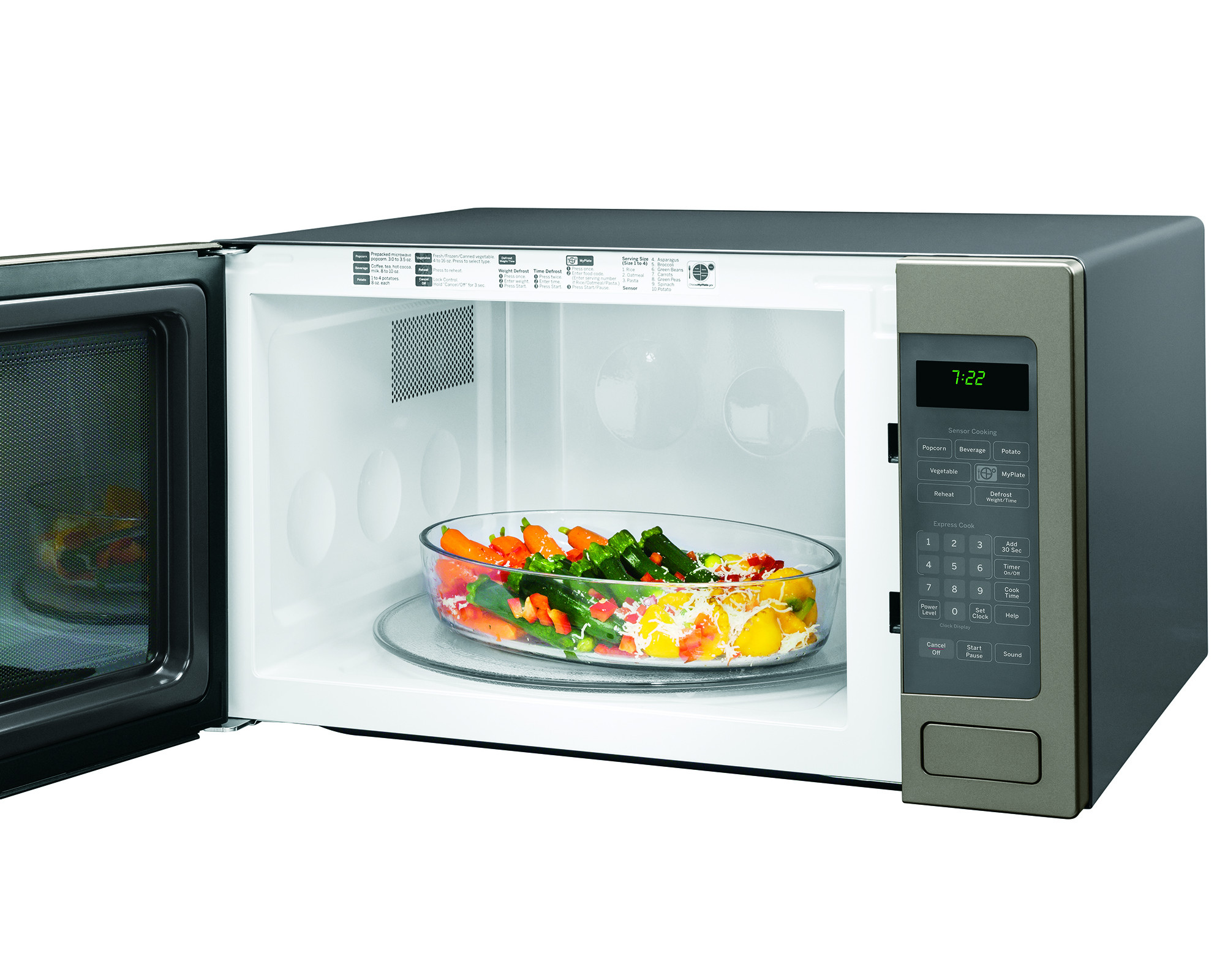 GE Appliances PEB7226EHES 2.2 cu. ft. Countertop Microwave Oven - Slate