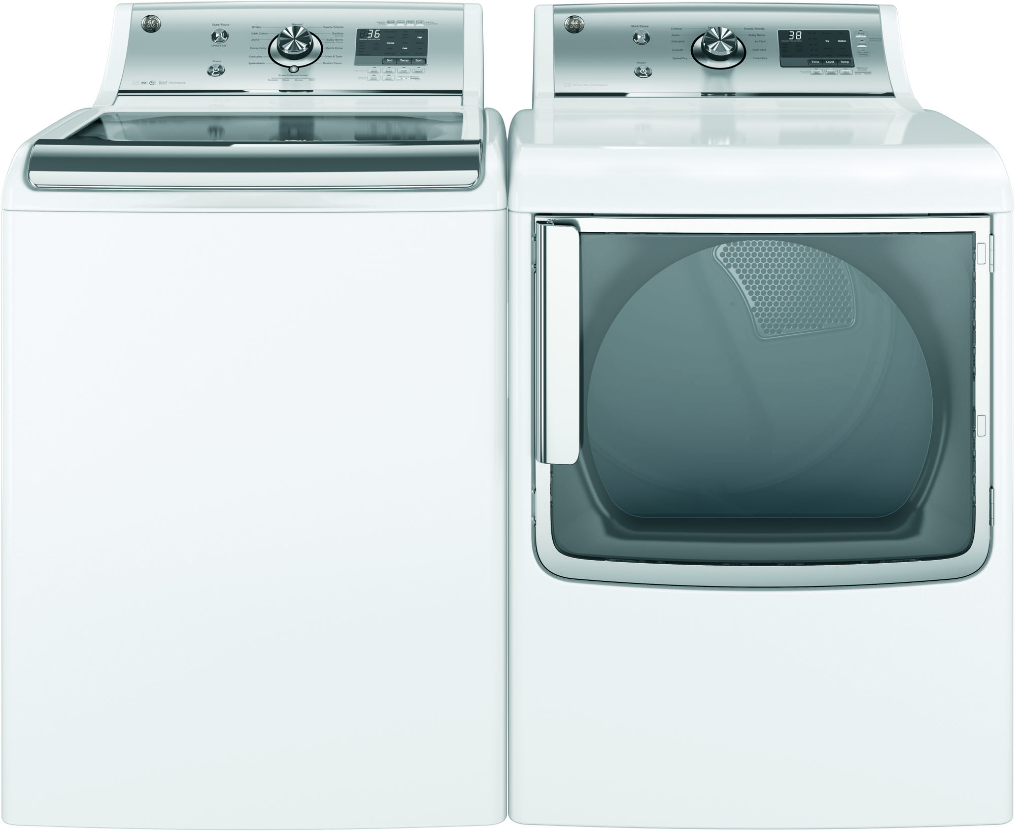 GE Appliances GTW810SSJWS 5.1 cu. ft. Top-Load Washer w/ Stainless Steel Basket - White
