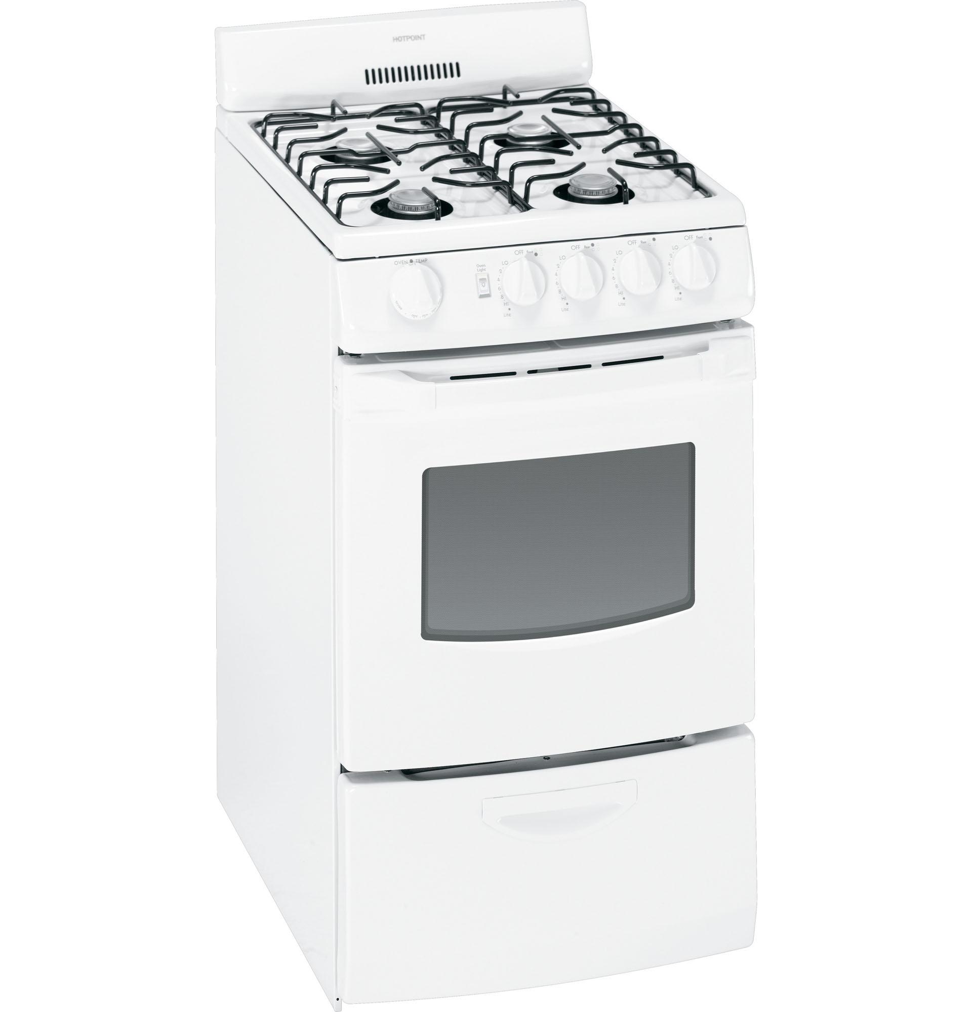 Hotpoint RGA820DEDWW 2.4 cu. ft. Freestanding Gas Range - White
