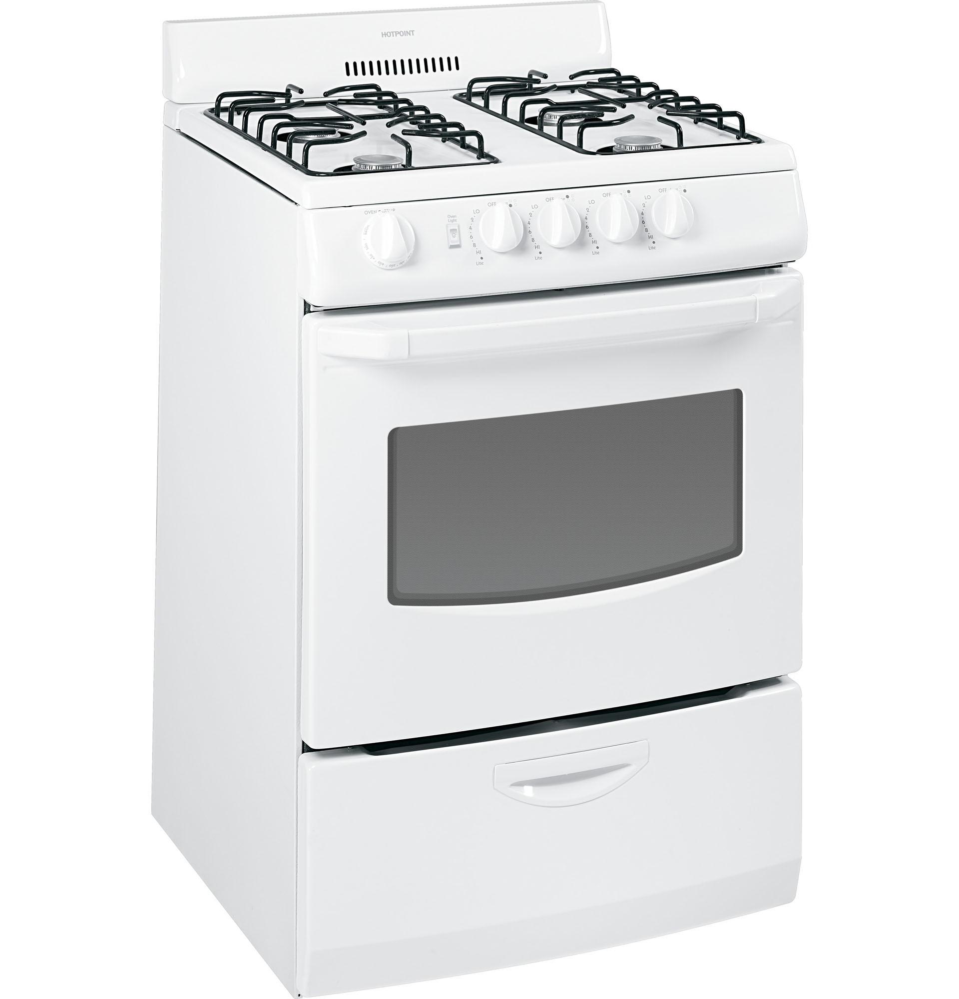 Hotpoint RGA824DEDWW 3.0 cu. ft. Freestanding Gas Range - White