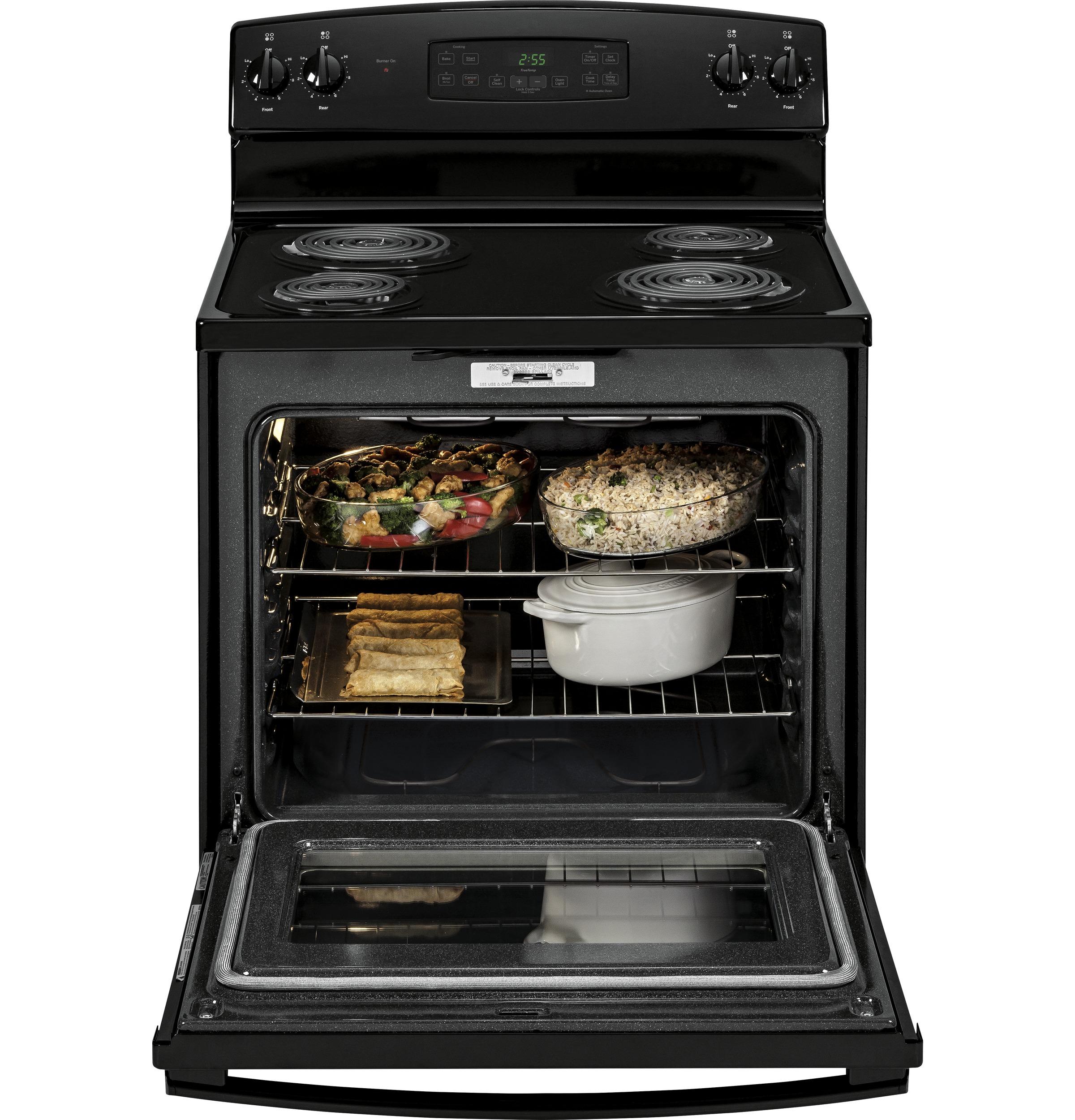 GE Appliances 5.0 cu. ft. Freestanding Electric Range - Black